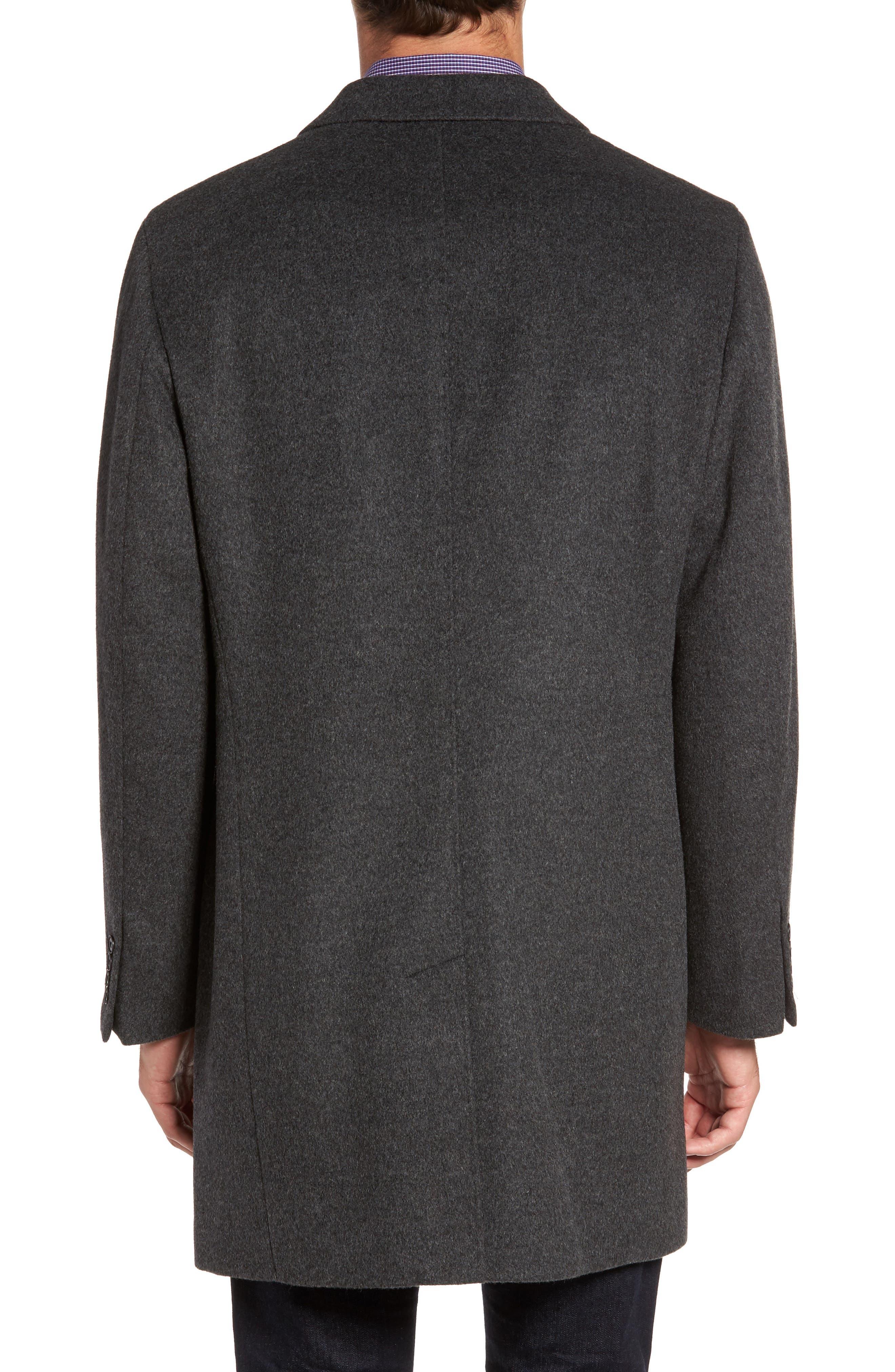 Alternate Image 2  - Nordstrom Men's Shop Mason Wool & Cashmere Overcoat