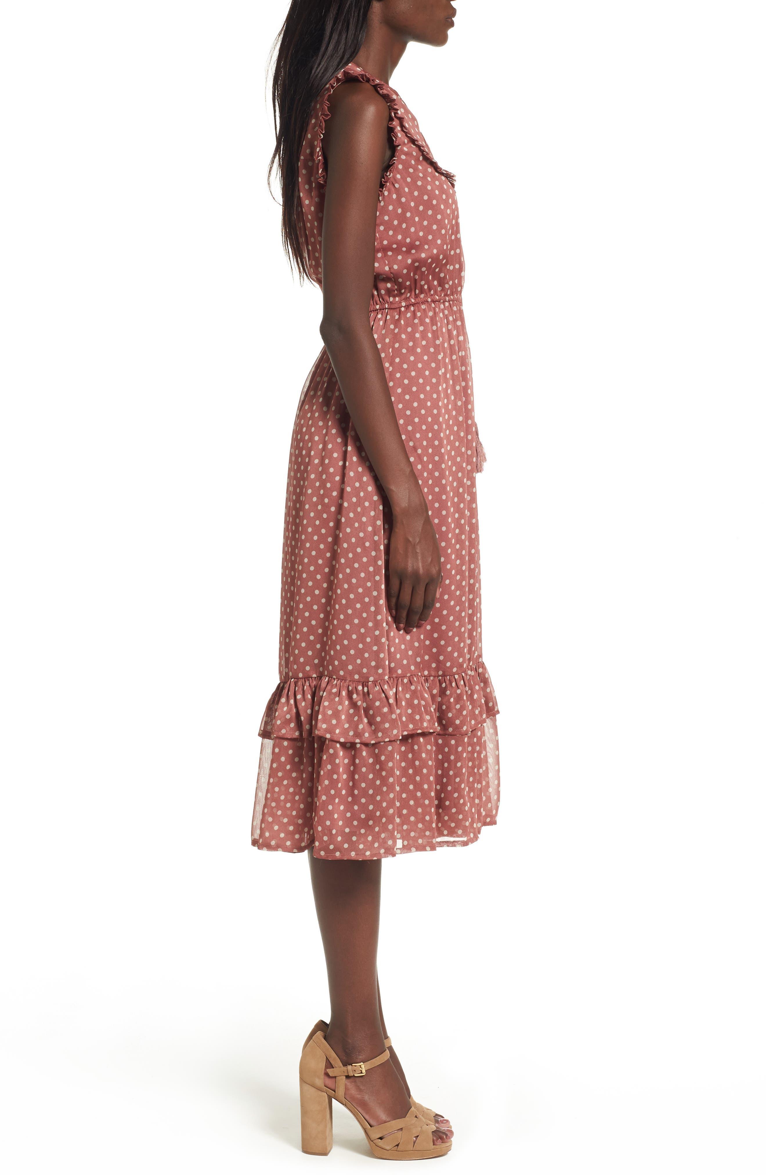 Alternate Image 4  - MOON RIVER Ruffle Midi Dress