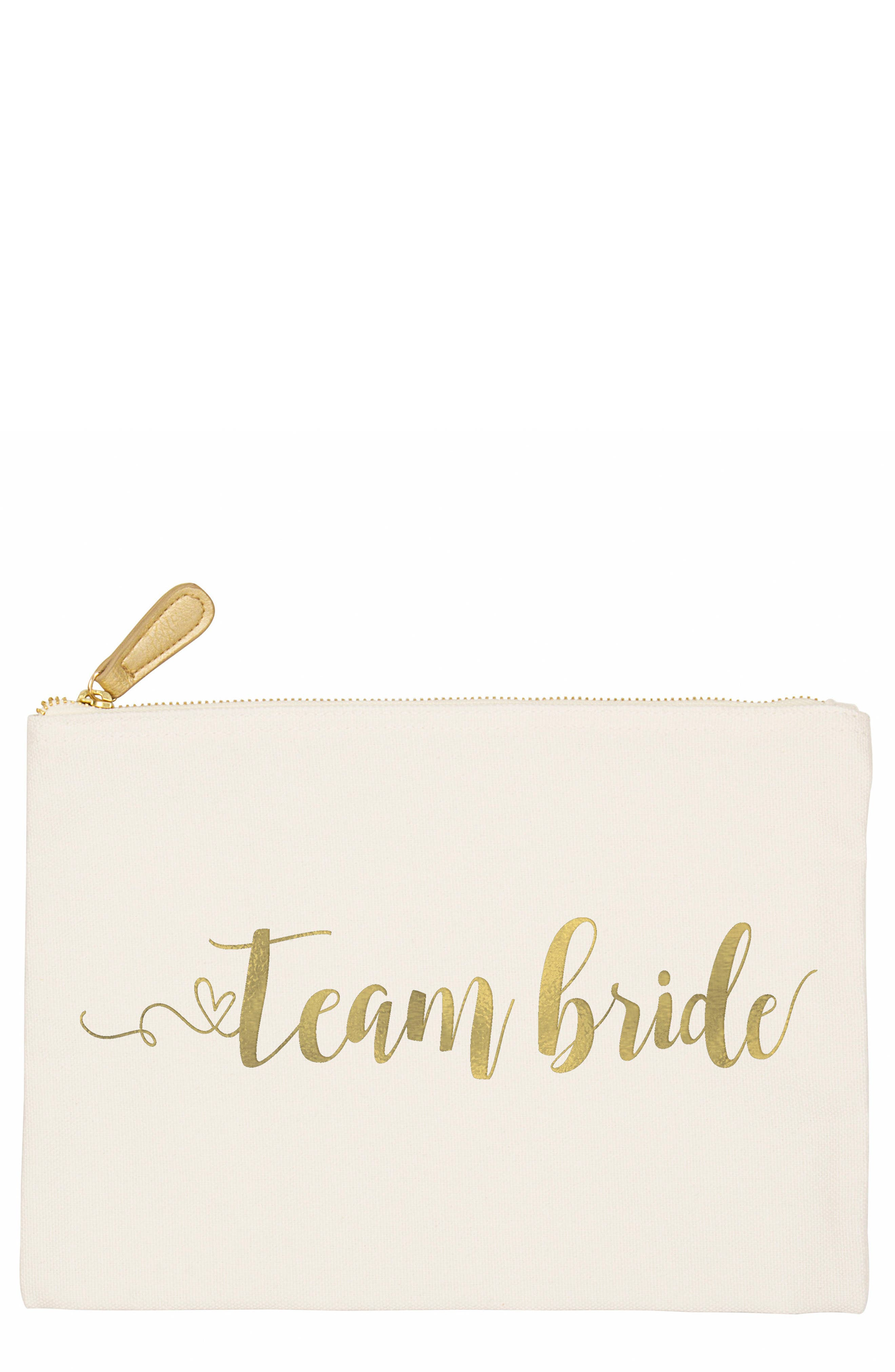 Main Image - Cathy's Concepts Team Bride Canvas Pouch