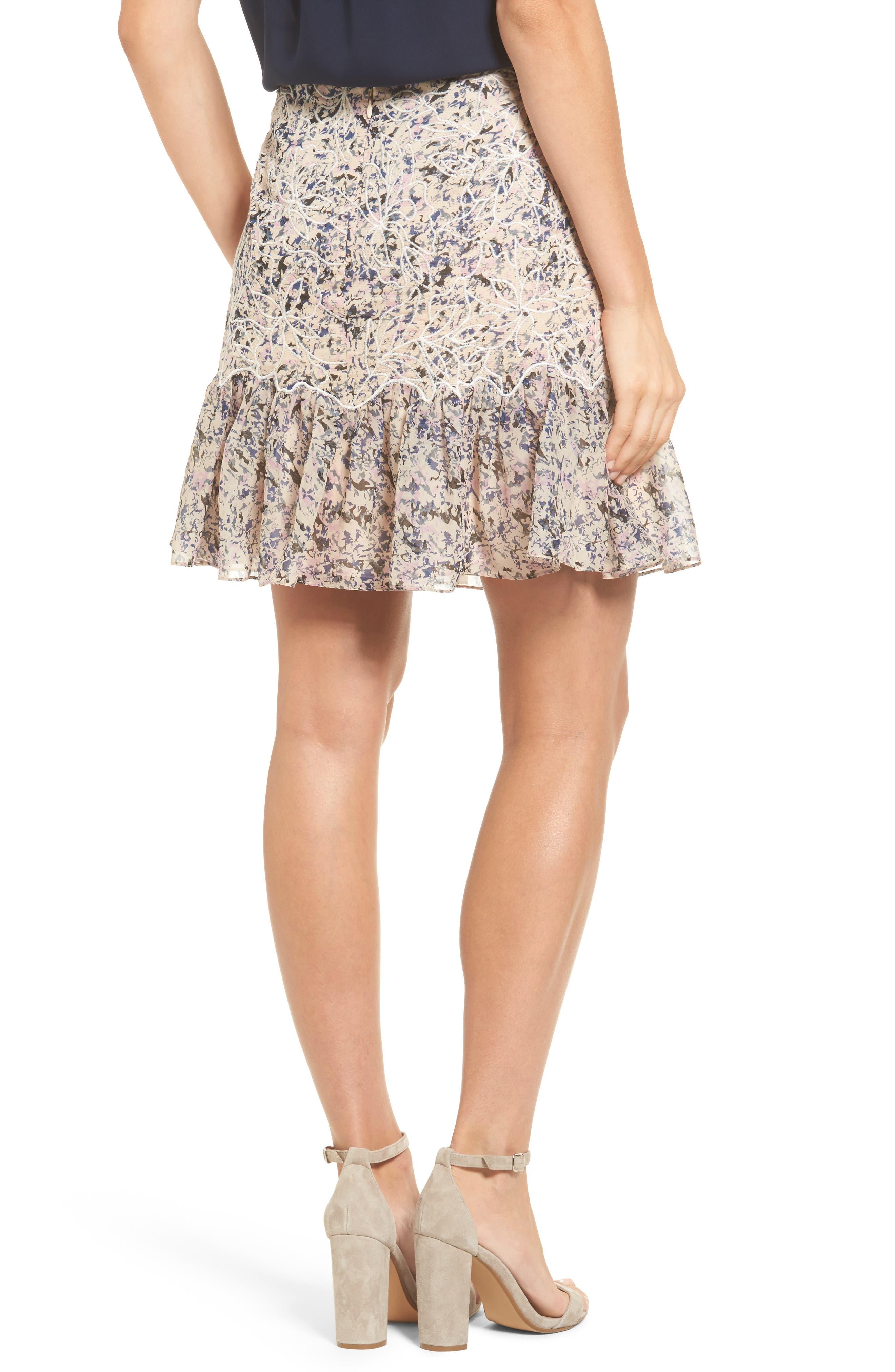Alternate Image 2  - Kobi Halperin Tegan Floral Fit & Flare Skirt