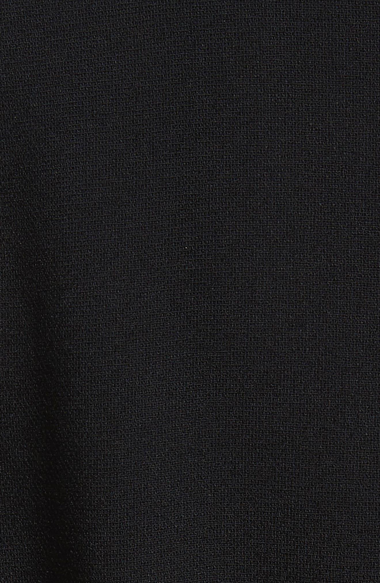 Contrast Stitch Dress,                             Alternate thumbnail 5, color,                             Black
