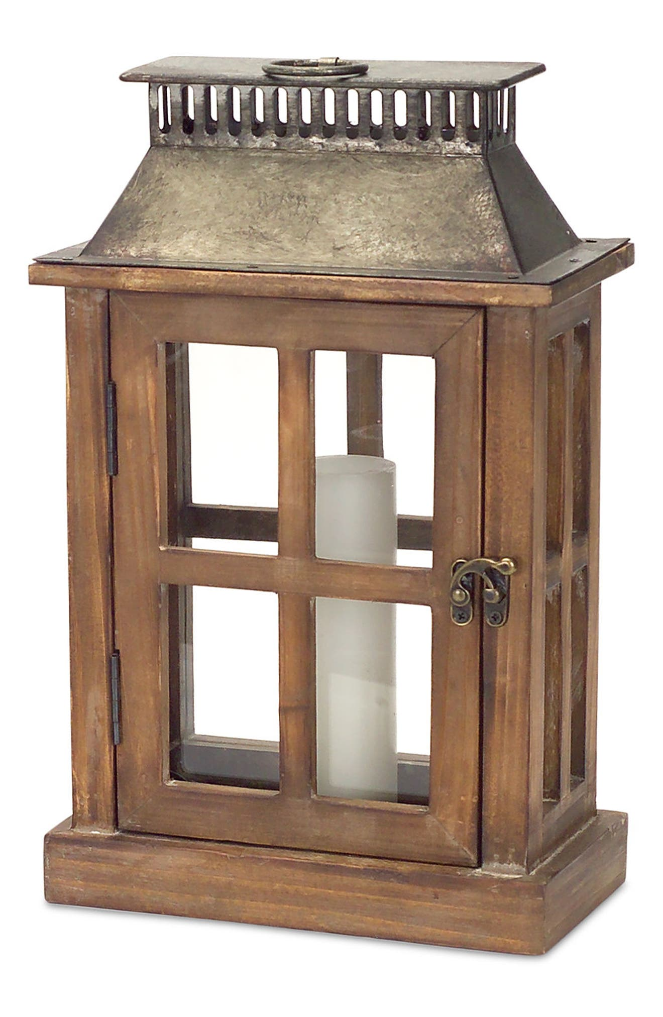 Set of 2 Decorative Lanterns,                             Alternate thumbnail 3, color,                             Brown