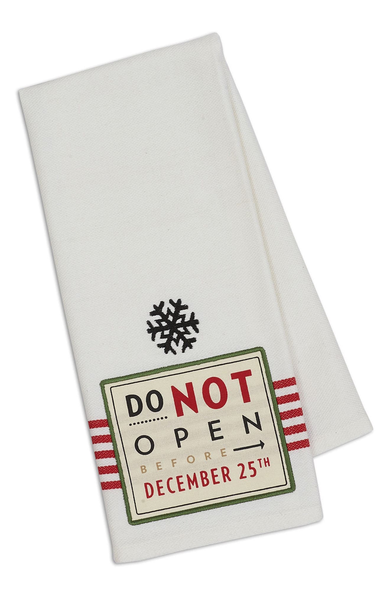 Design Imports December 25th Dish Towel