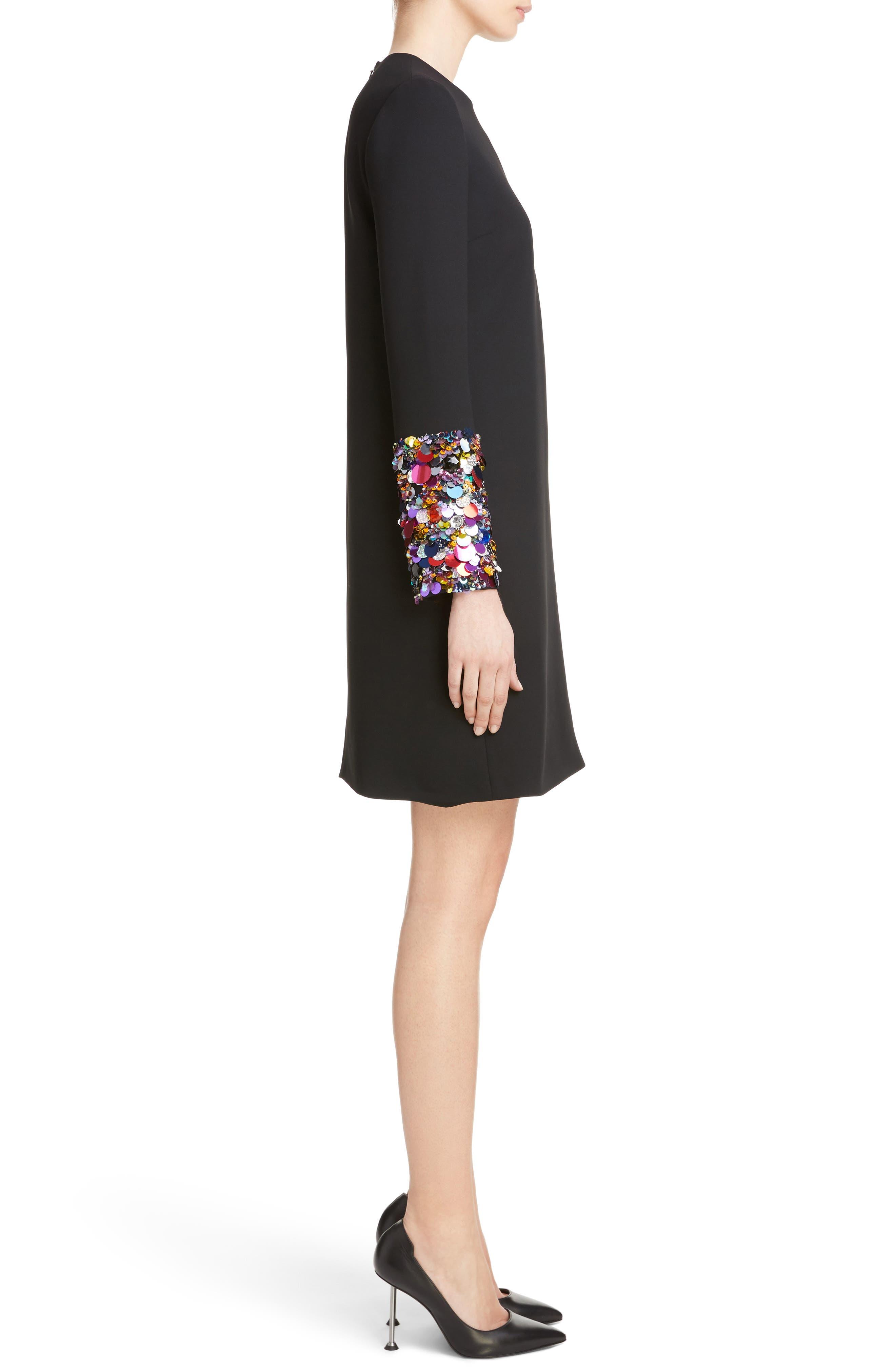 Alternate Image 3  - Victoria, Victoria Beckham Embellished Cuff Shift Dress
