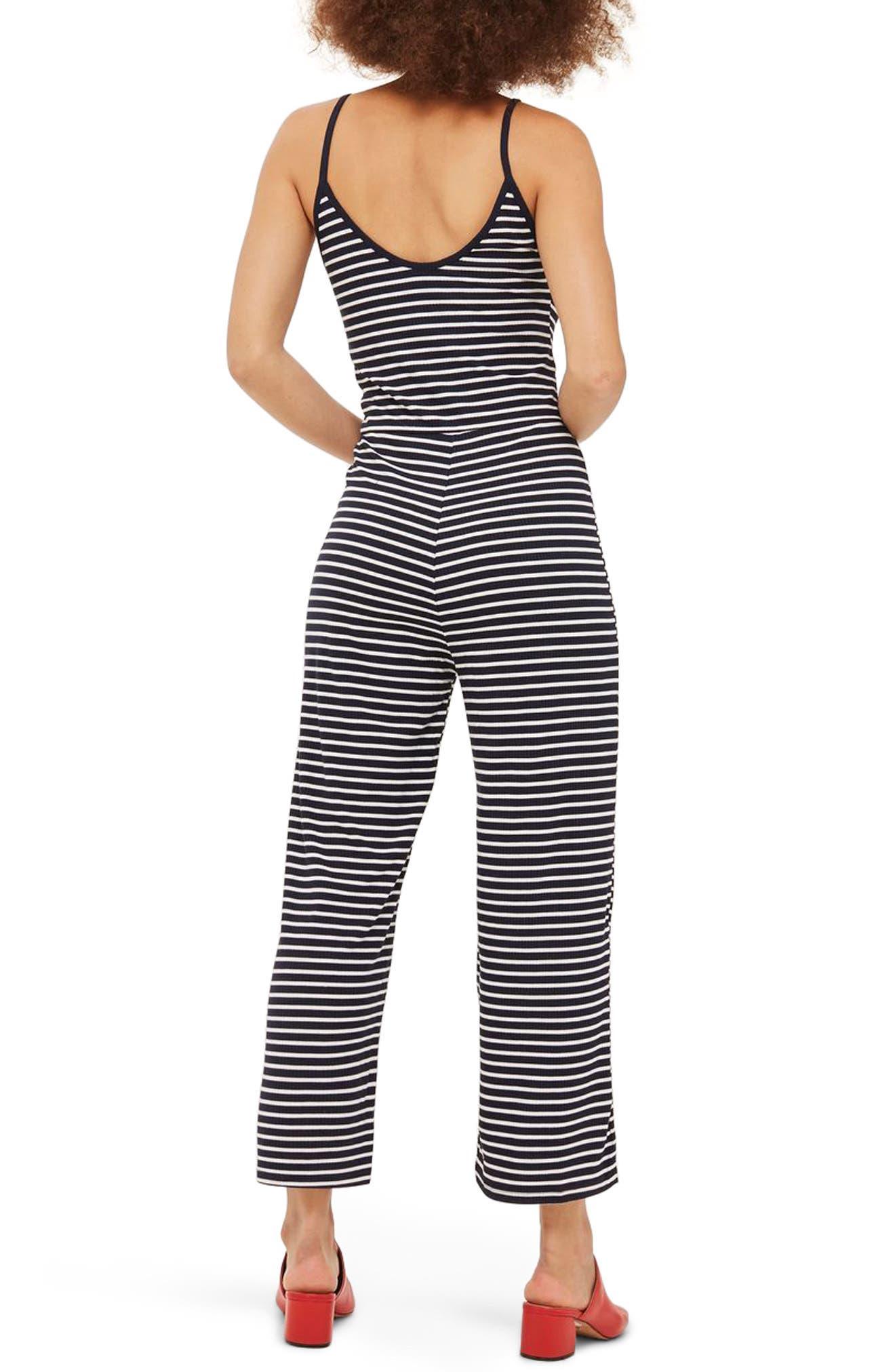 Alternate Image 2  - Topshop Stripe Jumpsuit