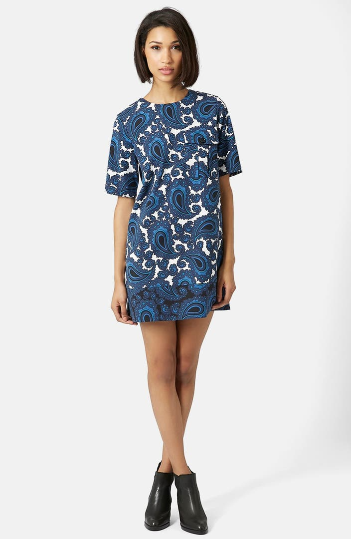 Topshop Paisley Print Tunic Dress Nordstrom