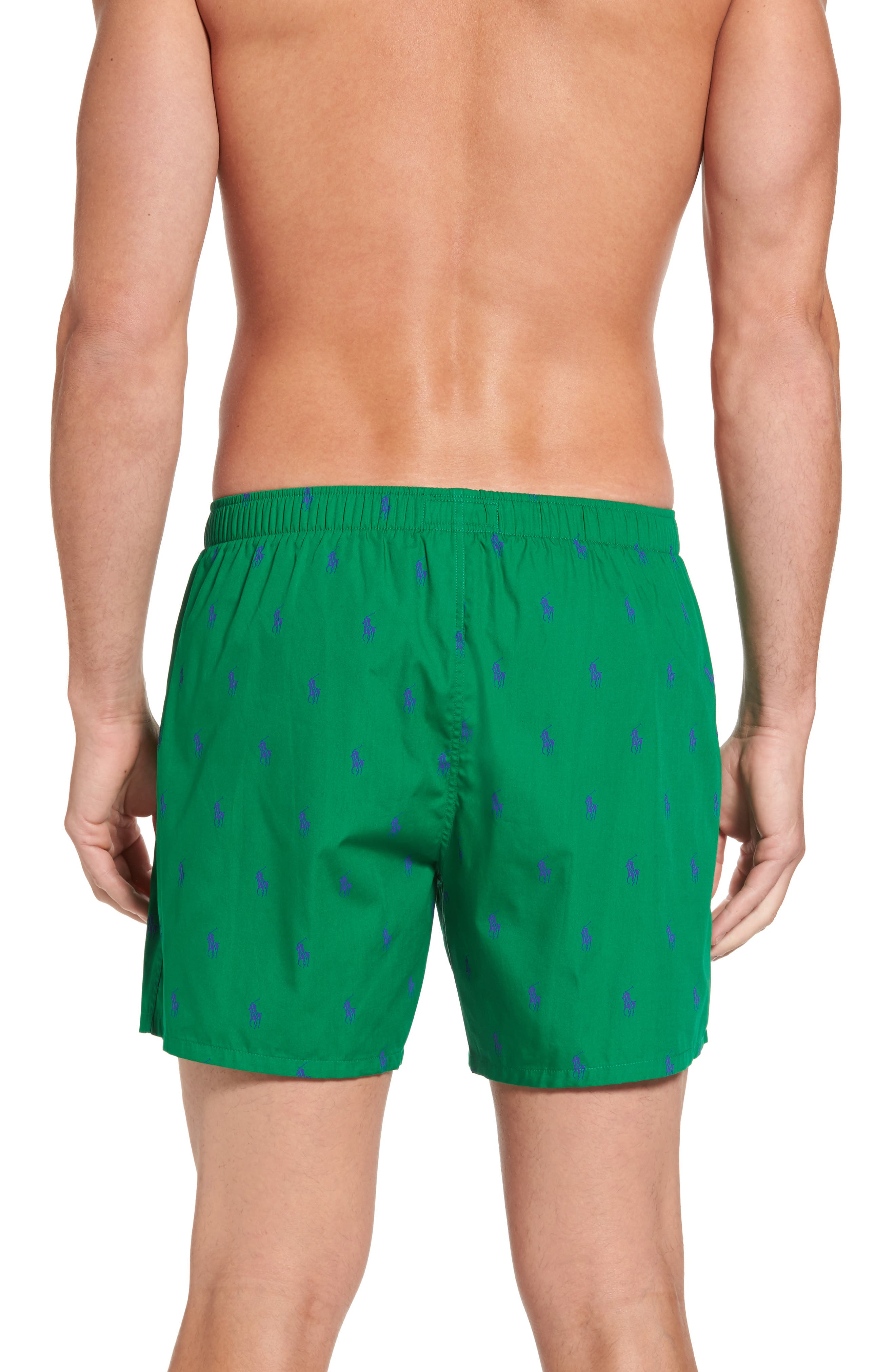 Pony Cotton Boxers,                             Alternate thumbnail 2, color,                             English Green