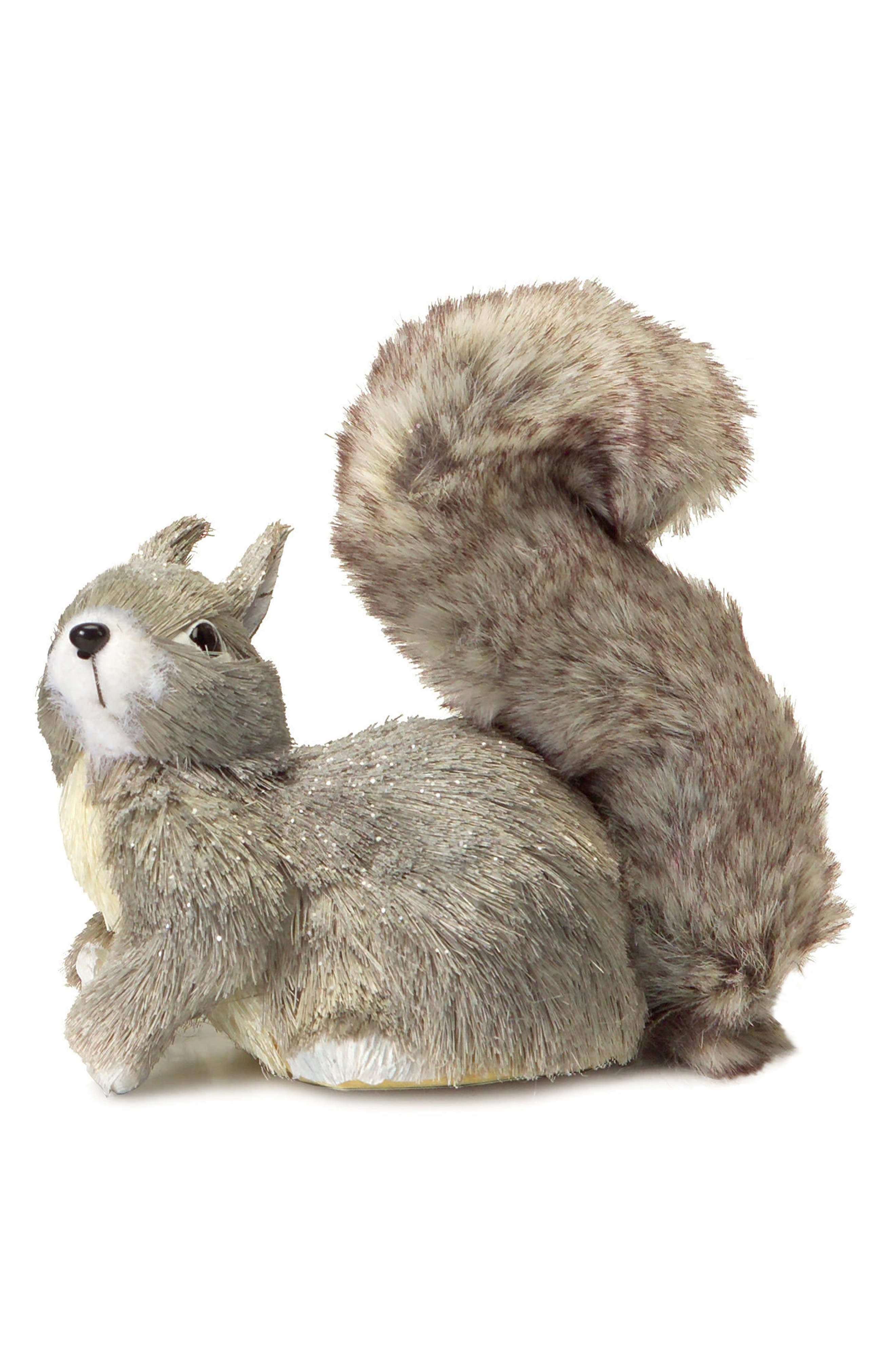 Sisal Squirrel Decoration,                         Main,                         color, Grey