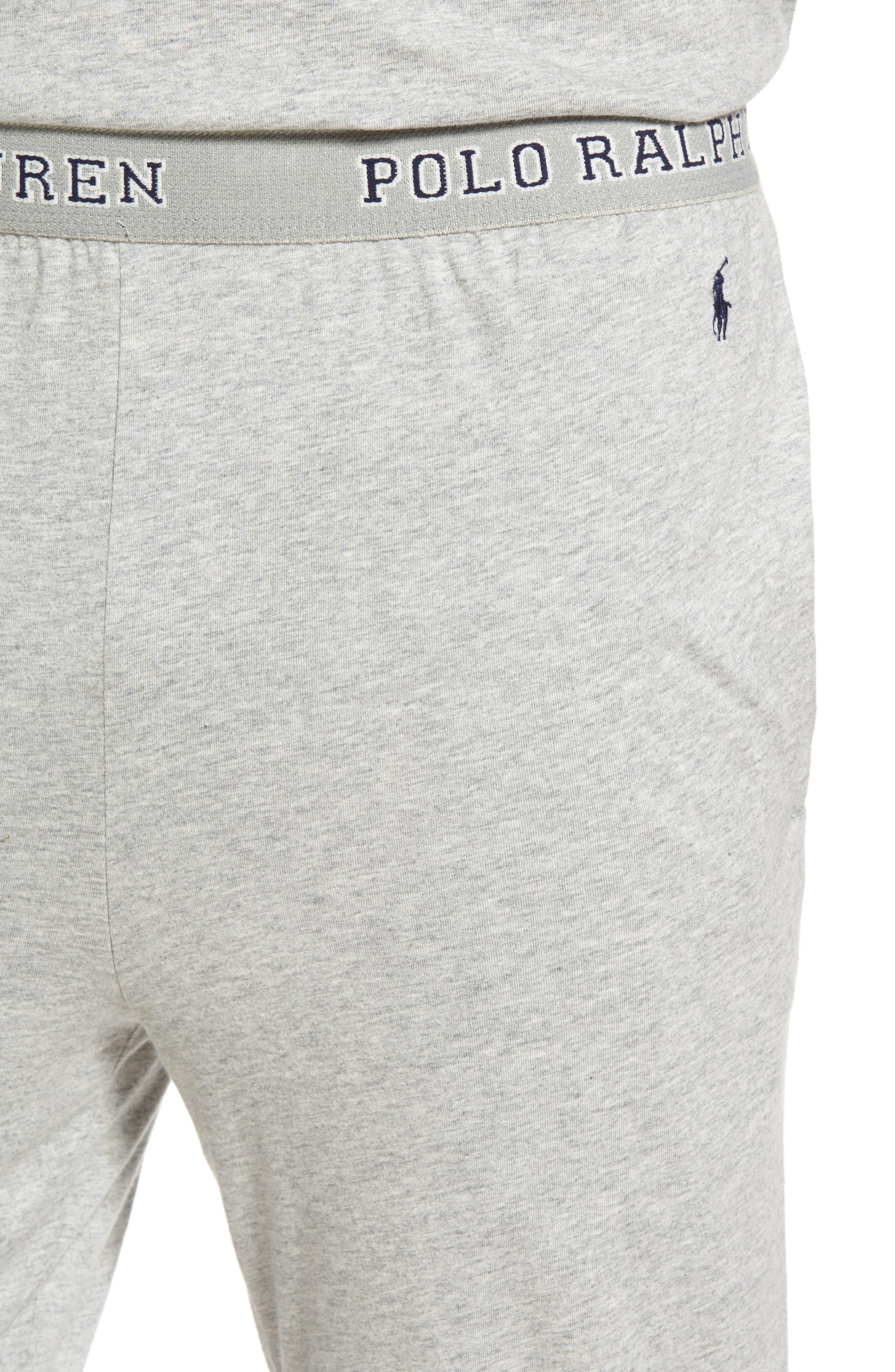 Cotton Jogger Lounge Pants,                             Alternate thumbnail 4, color,                             Andover Heather