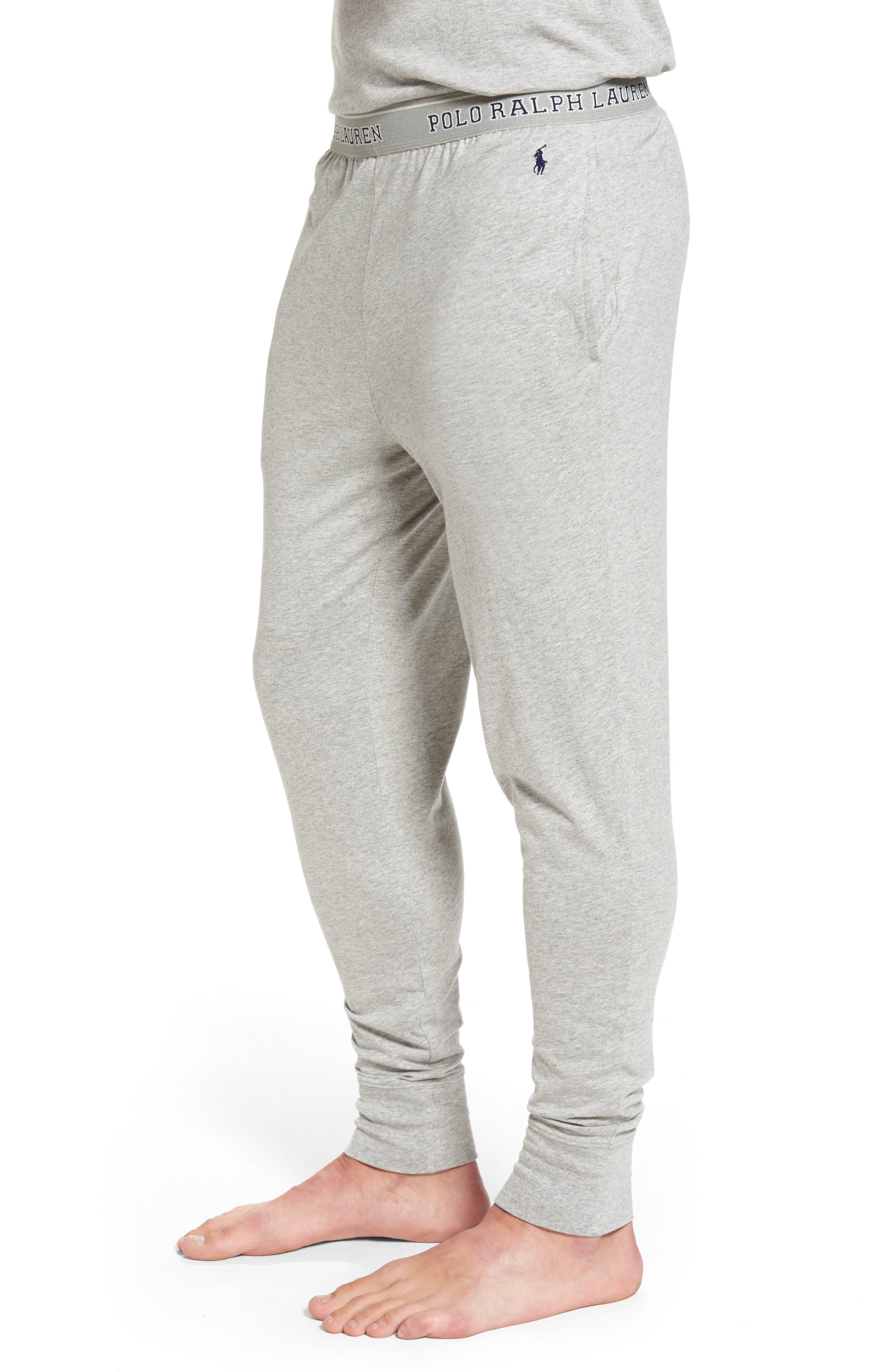 Cotton Jogger Lounge Pants,                             Alternate thumbnail 3, color,                             Andover Heather