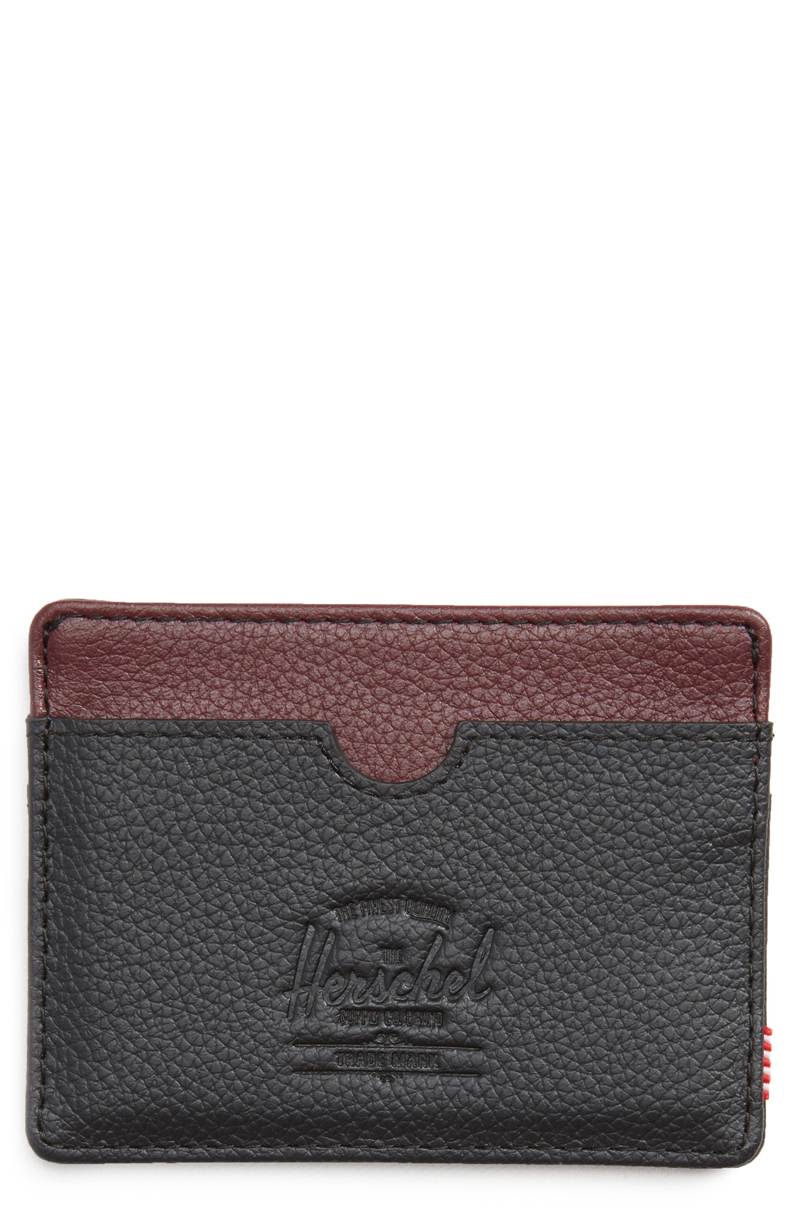 Herschel Supply Co. Charlie Pebble Leather Card Case