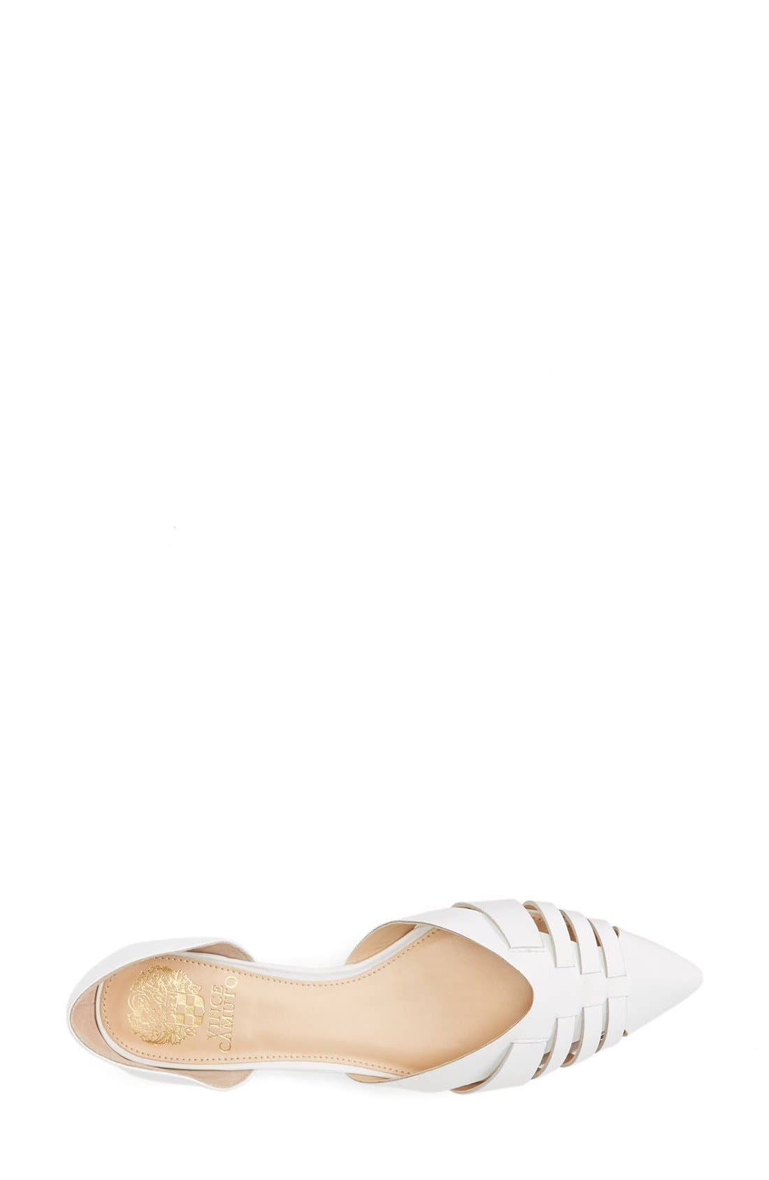 Alternate Image 3  - Vince Camuto 'Hallie' Woven Leather d'Orsay Flat (Women) (Nordstrom Exclusive)