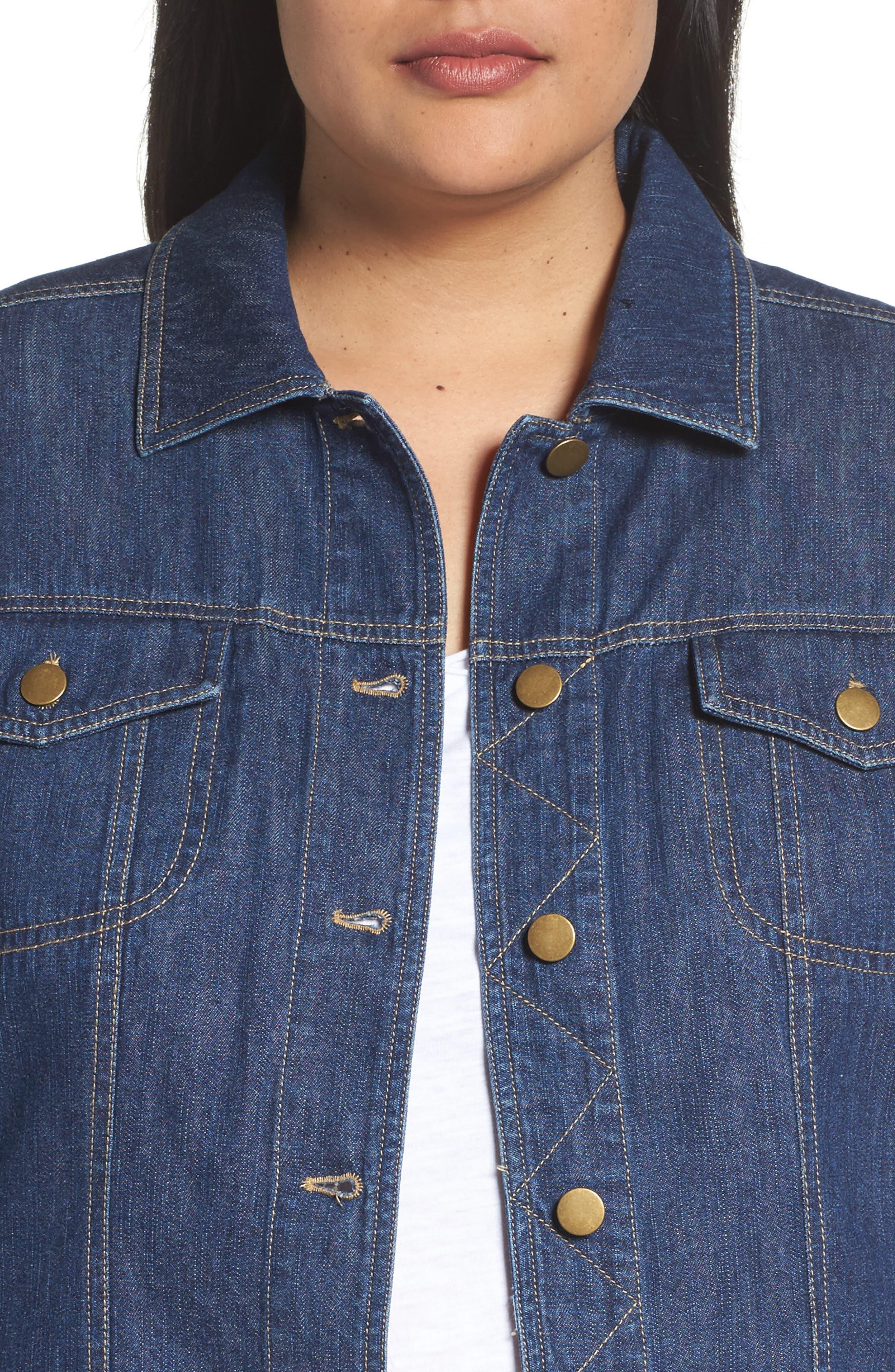 Alternate Image 4  - Sejour Denim Jacket (Plus Size)