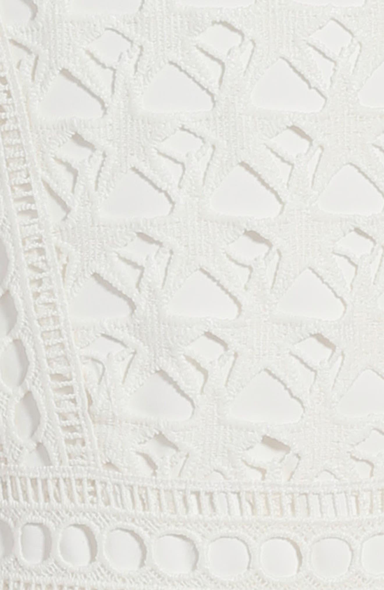 Junior Star Lace Dress,                             Alternate thumbnail 3, color,                             White