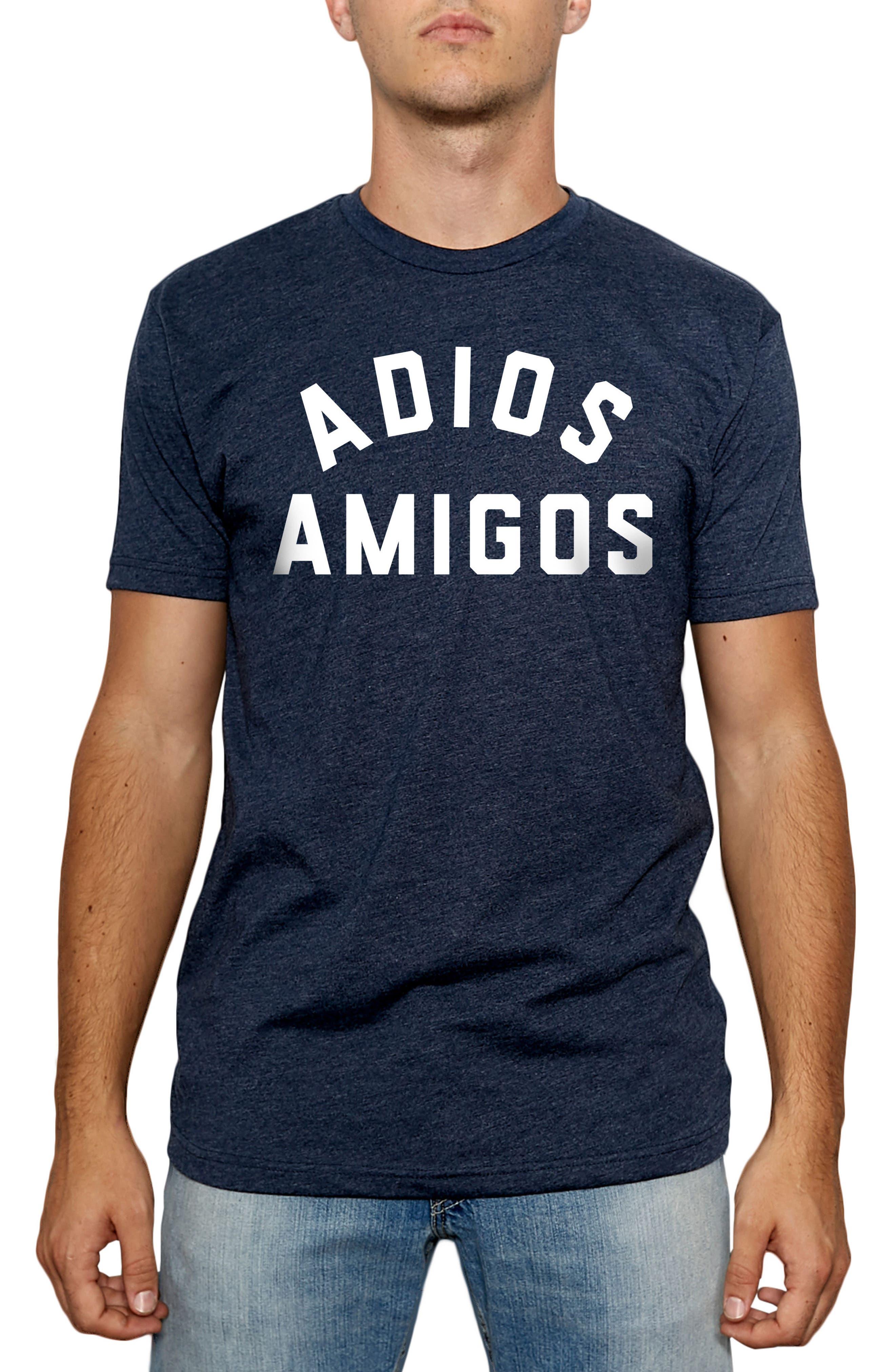 Adios Amigos Graphic T-Shirt,                             Main thumbnail 1, color,                             Navy