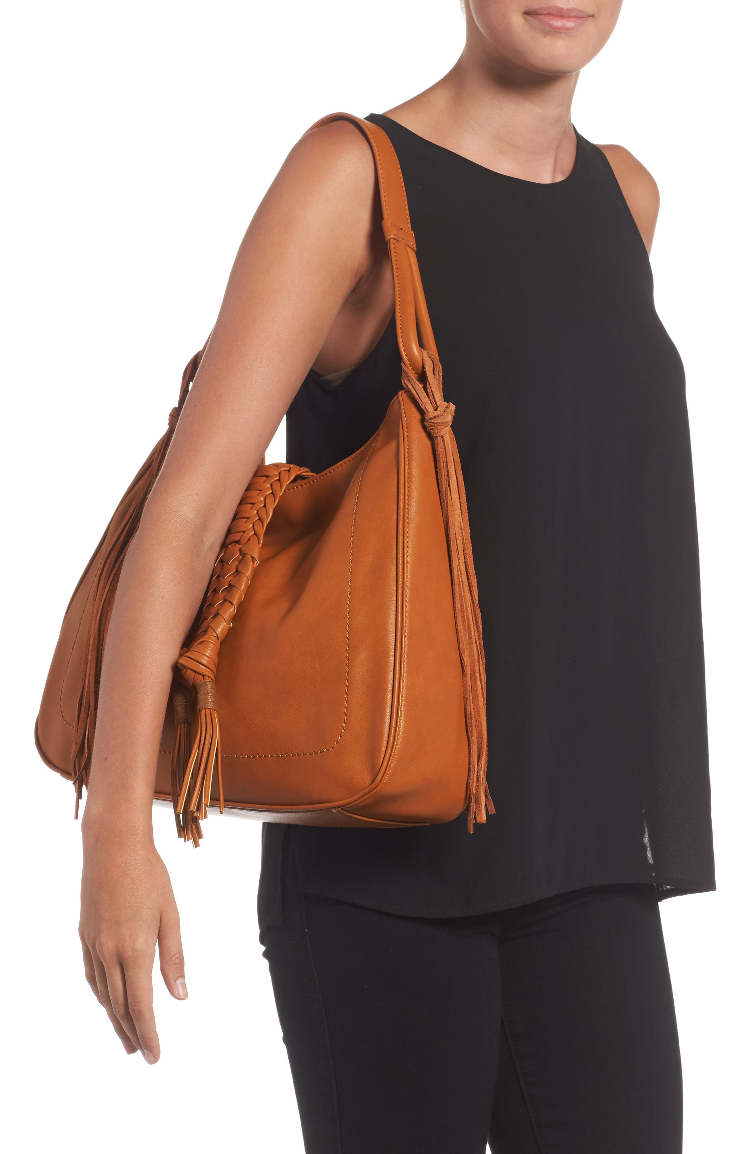 Alternate Image 6  - Sole Society Vale Faux Leather Hobo Bag