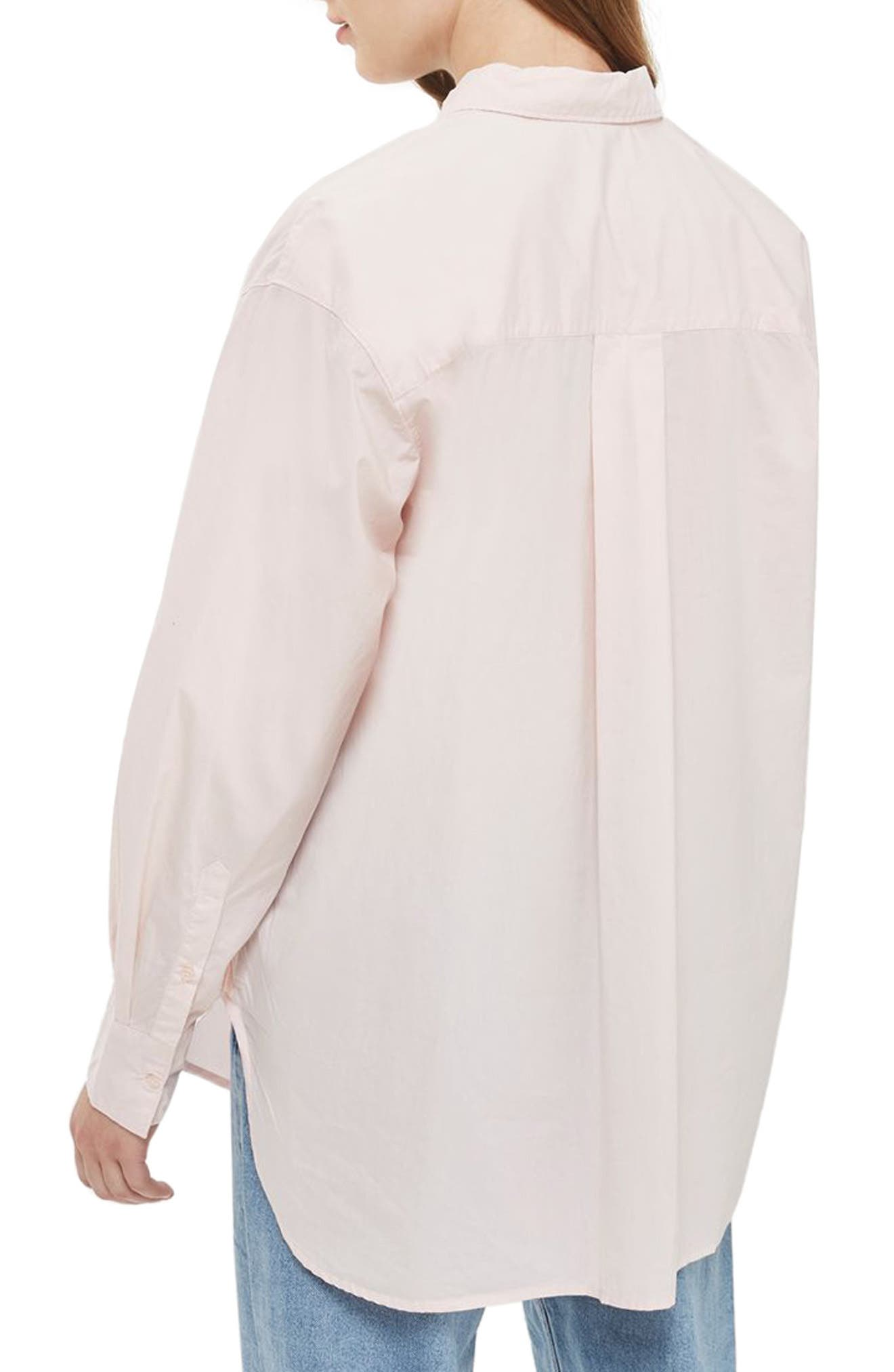 Olly Oversize Poplin Shirt,                             Alternate thumbnail 2, color,                             Light Pink