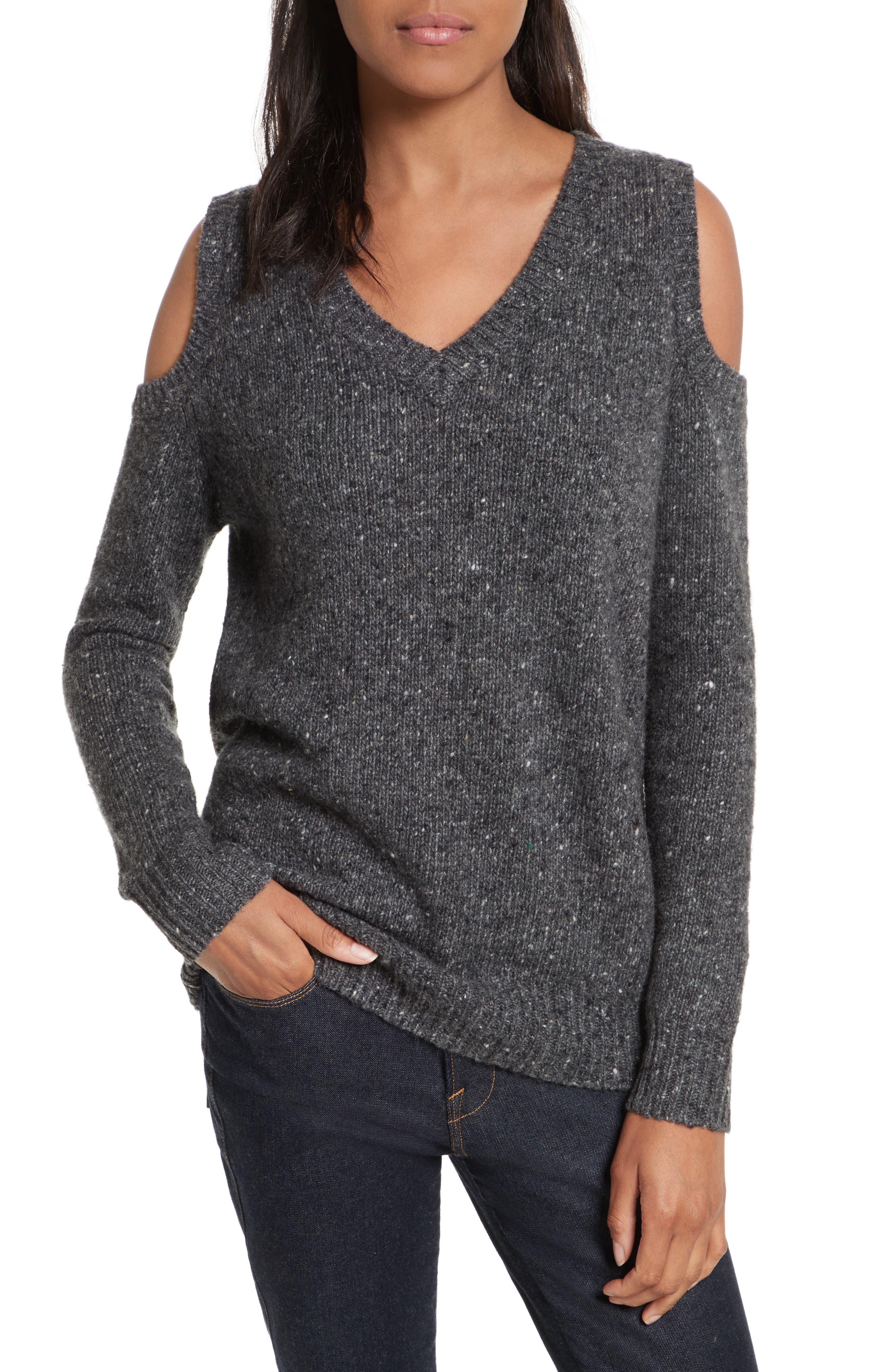 Main Image - Rebecca Minkoff Page Cold Shoulder Sweater