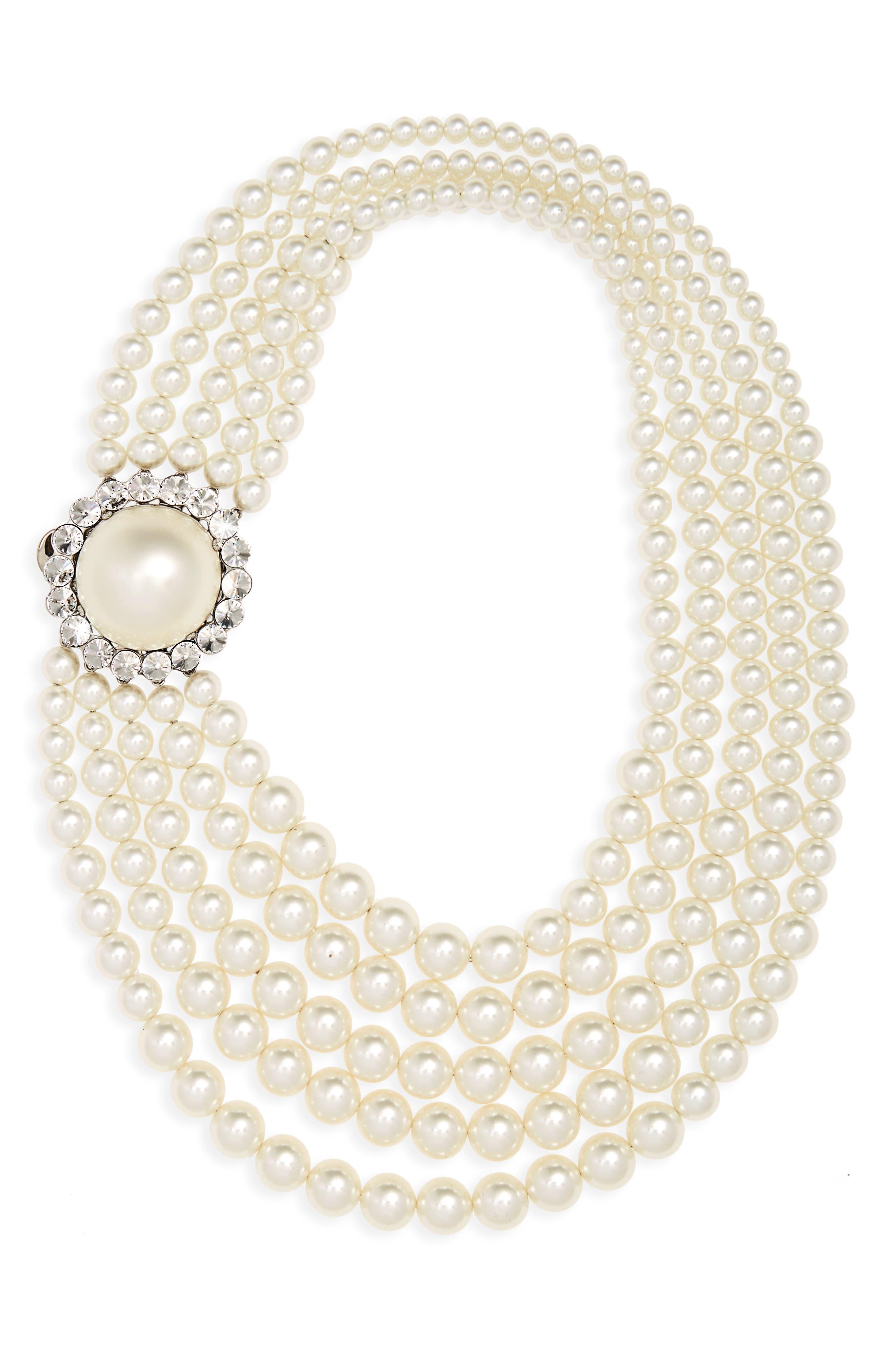 Main Image - Miu Miu Multistrand Imitation Pearl Necklace