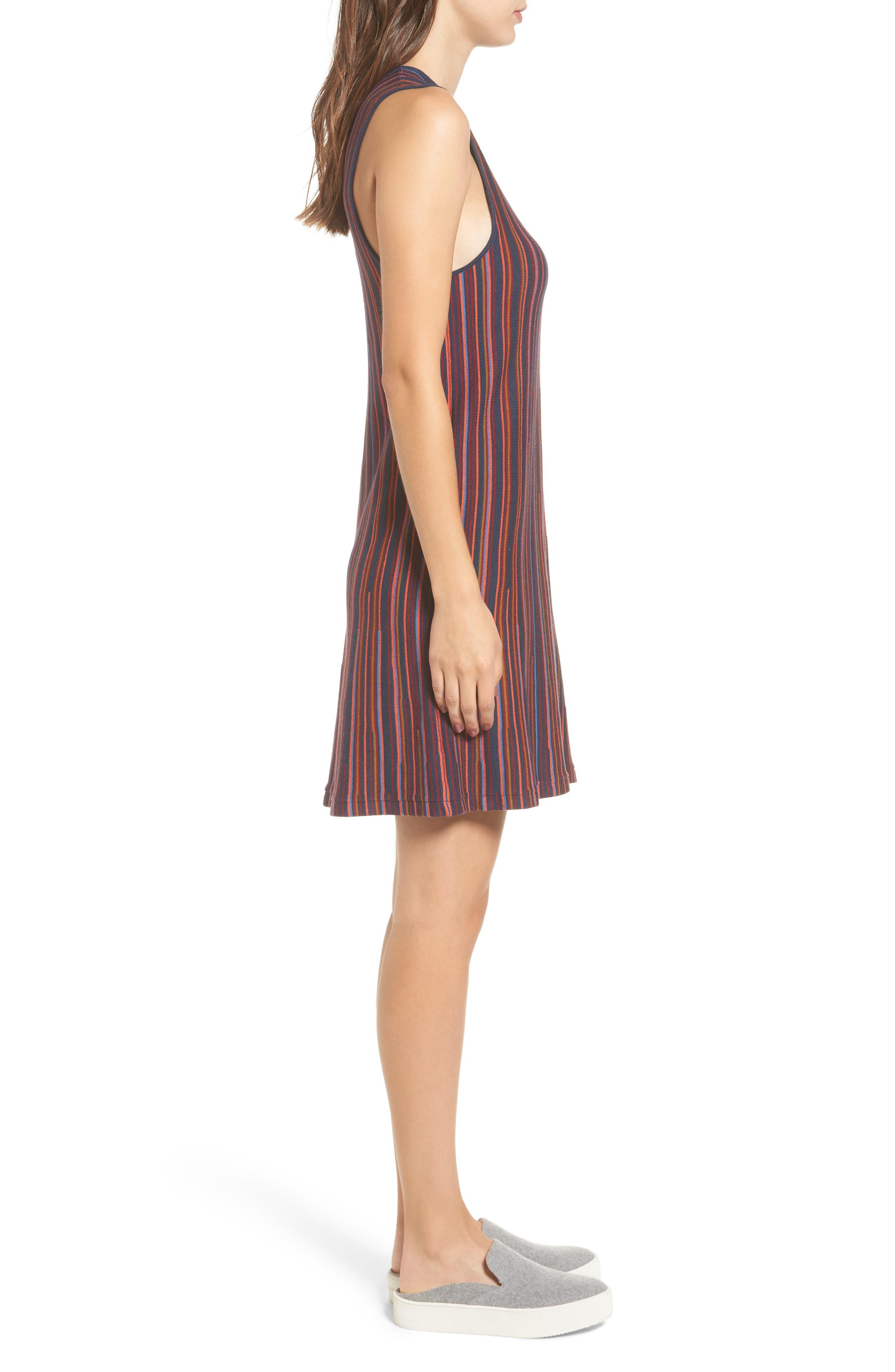 Foolish Stripe Knit Dress,                             Alternate thumbnail 3, color,                             Federal Blue