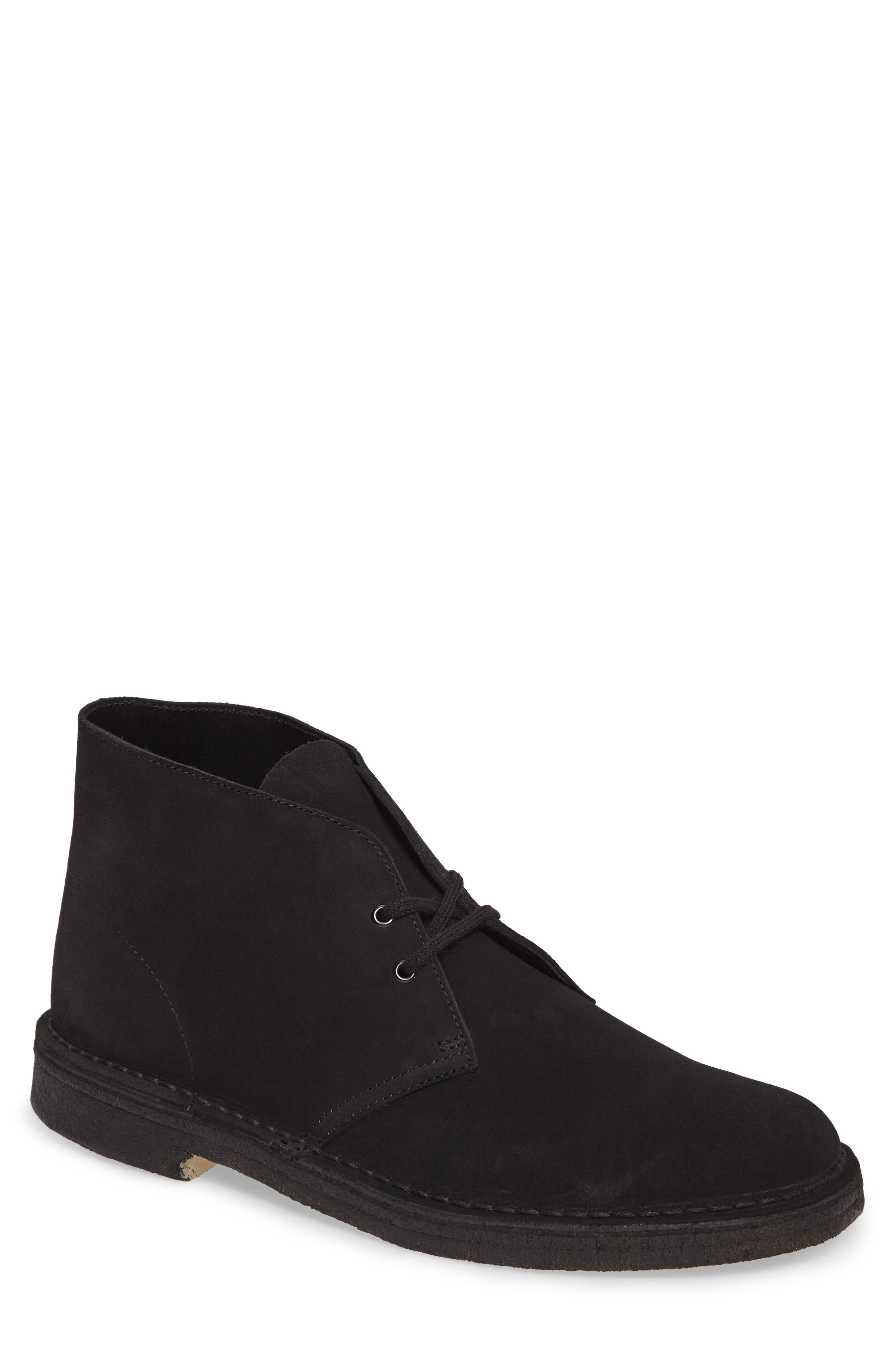 'Desert' Boot,                         Main,                         color, Black Suede