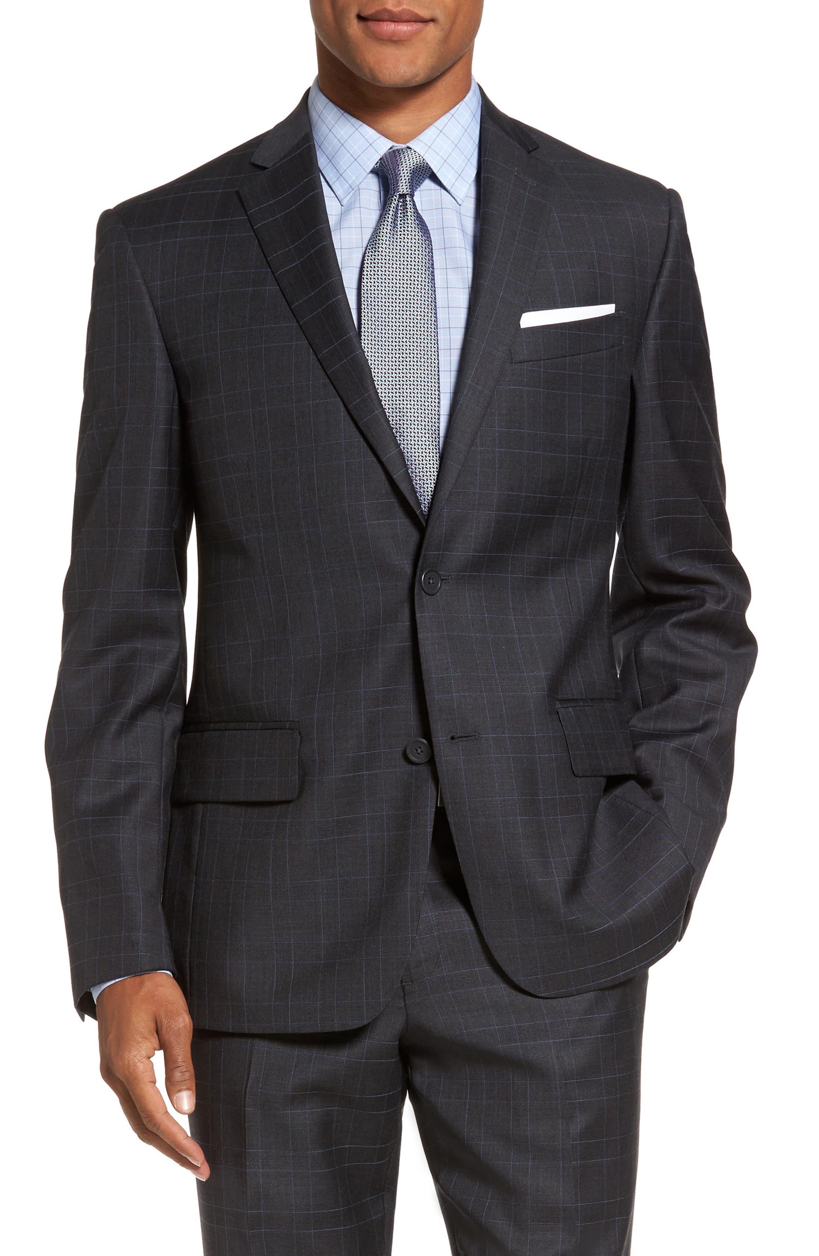 Alternate Image 5  - Nordstrom Men's Shop Classic Fit Plaid Wool Suit