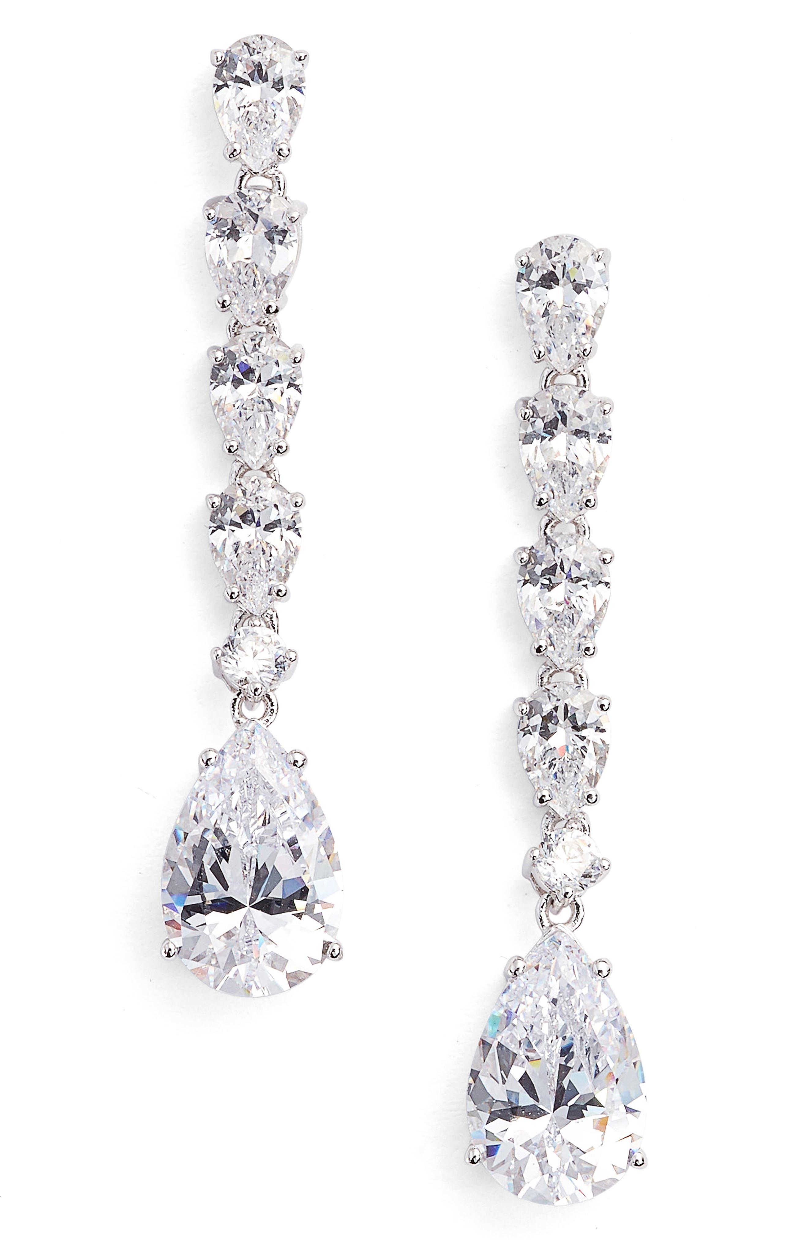 Nadri Cubic Zirconia Drop Earrings