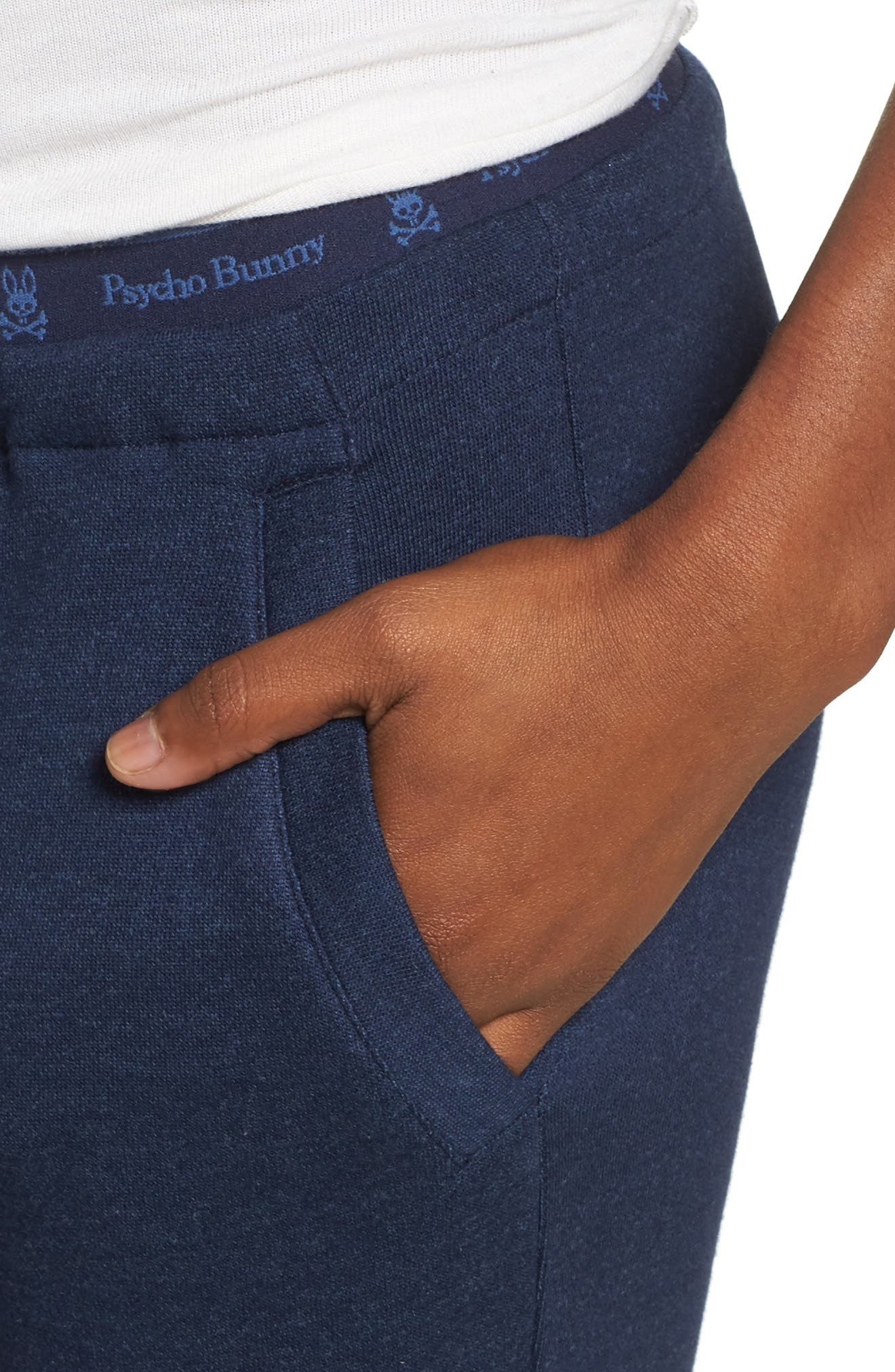 French Terry Pants,                             Alternate thumbnail 6, color,                             Peacoat
