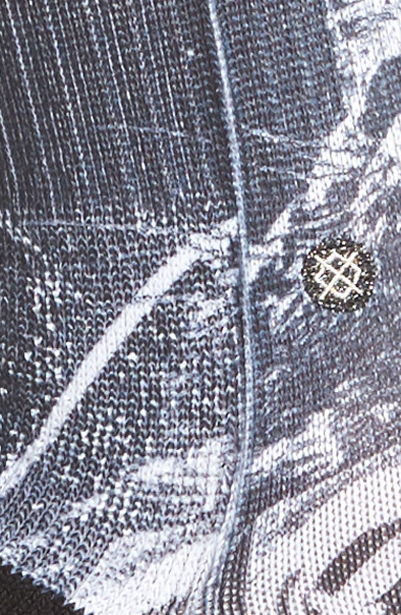 Punker Skunker Crew Socks,                             Alternate thumbnail 2, color,                             Black Multi