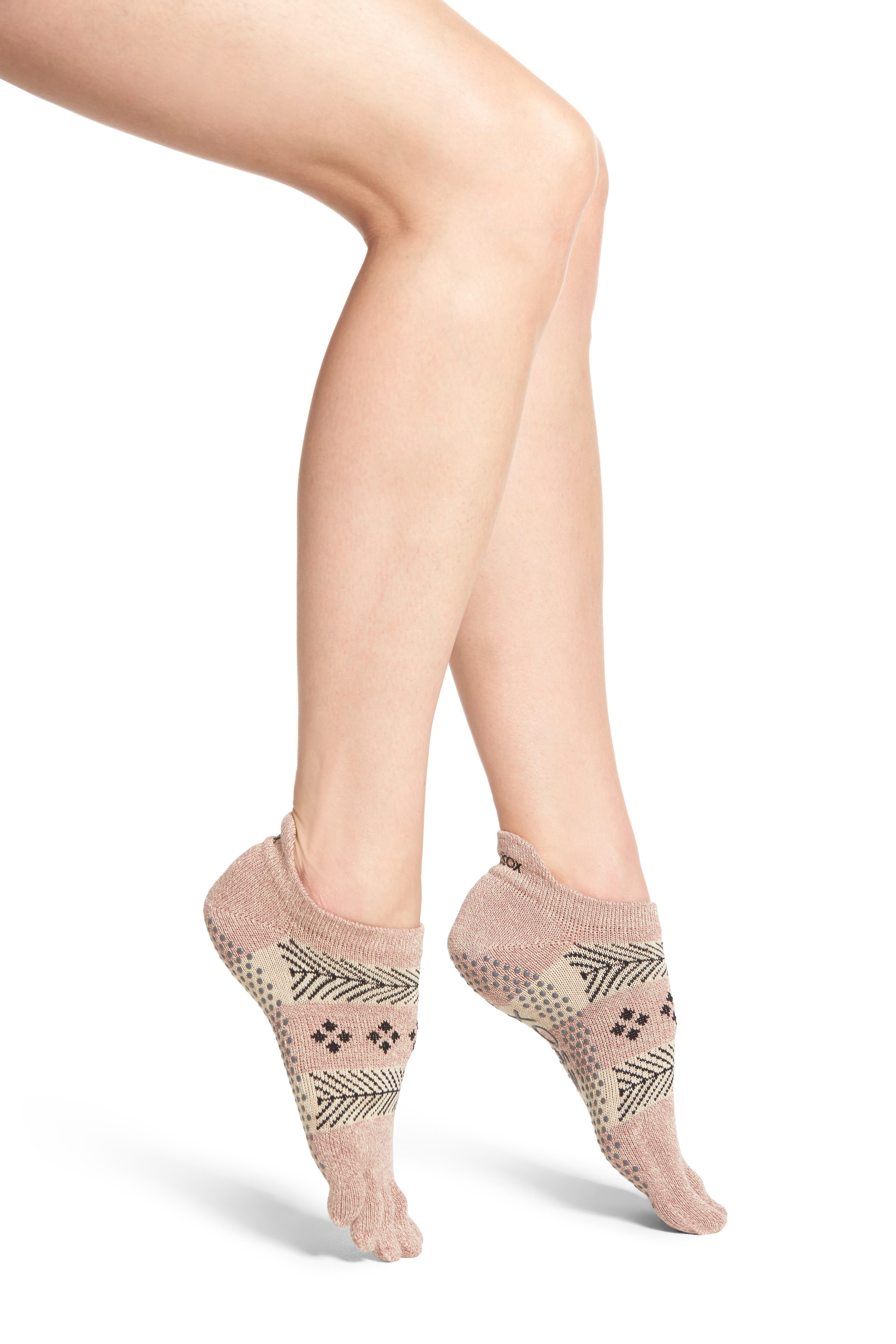 Full Toe Grip Socks,                         Main,                         color, Sugar Plum