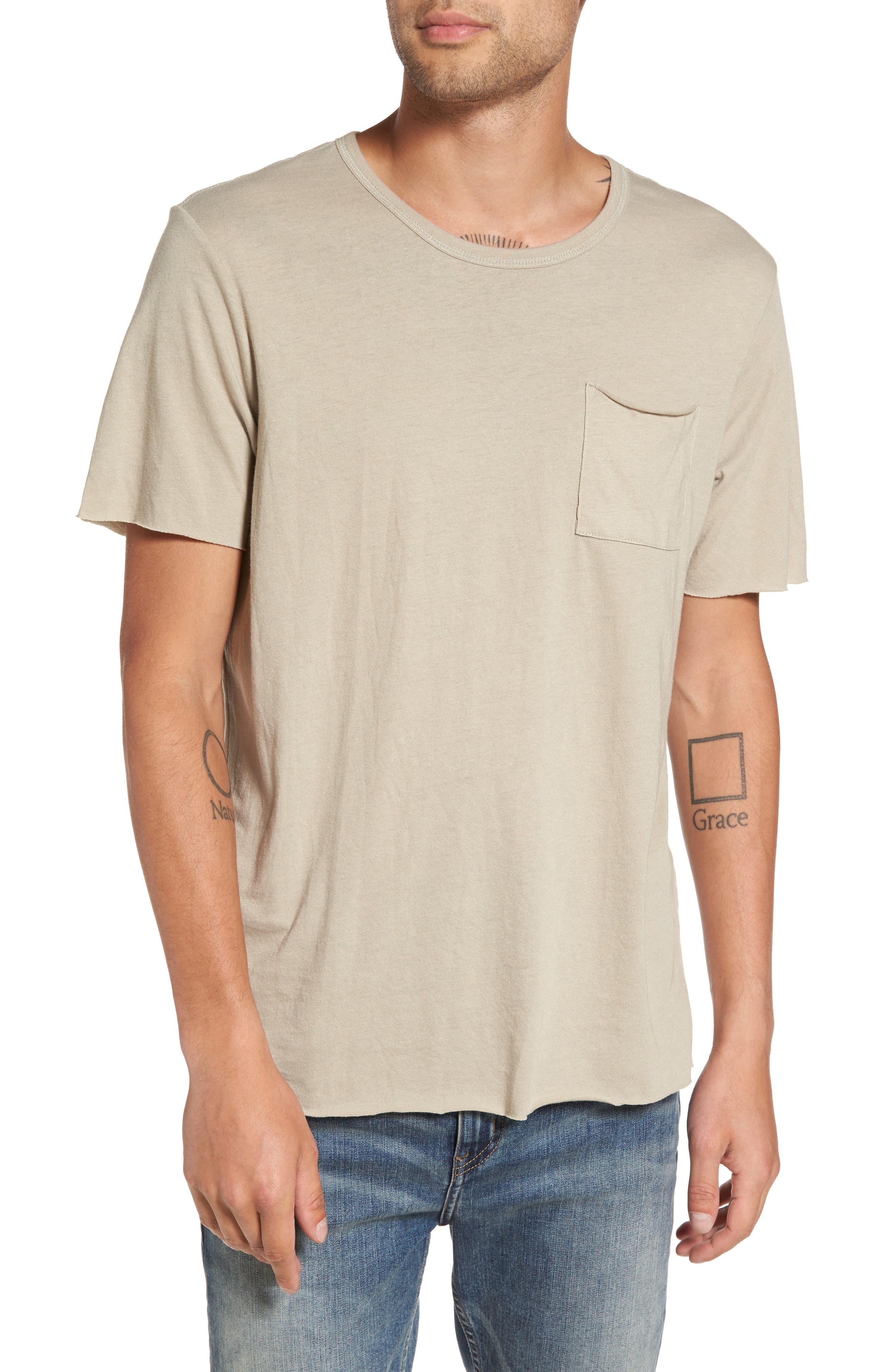 THE RAIL Scoop Neck Pocket T-Shirt