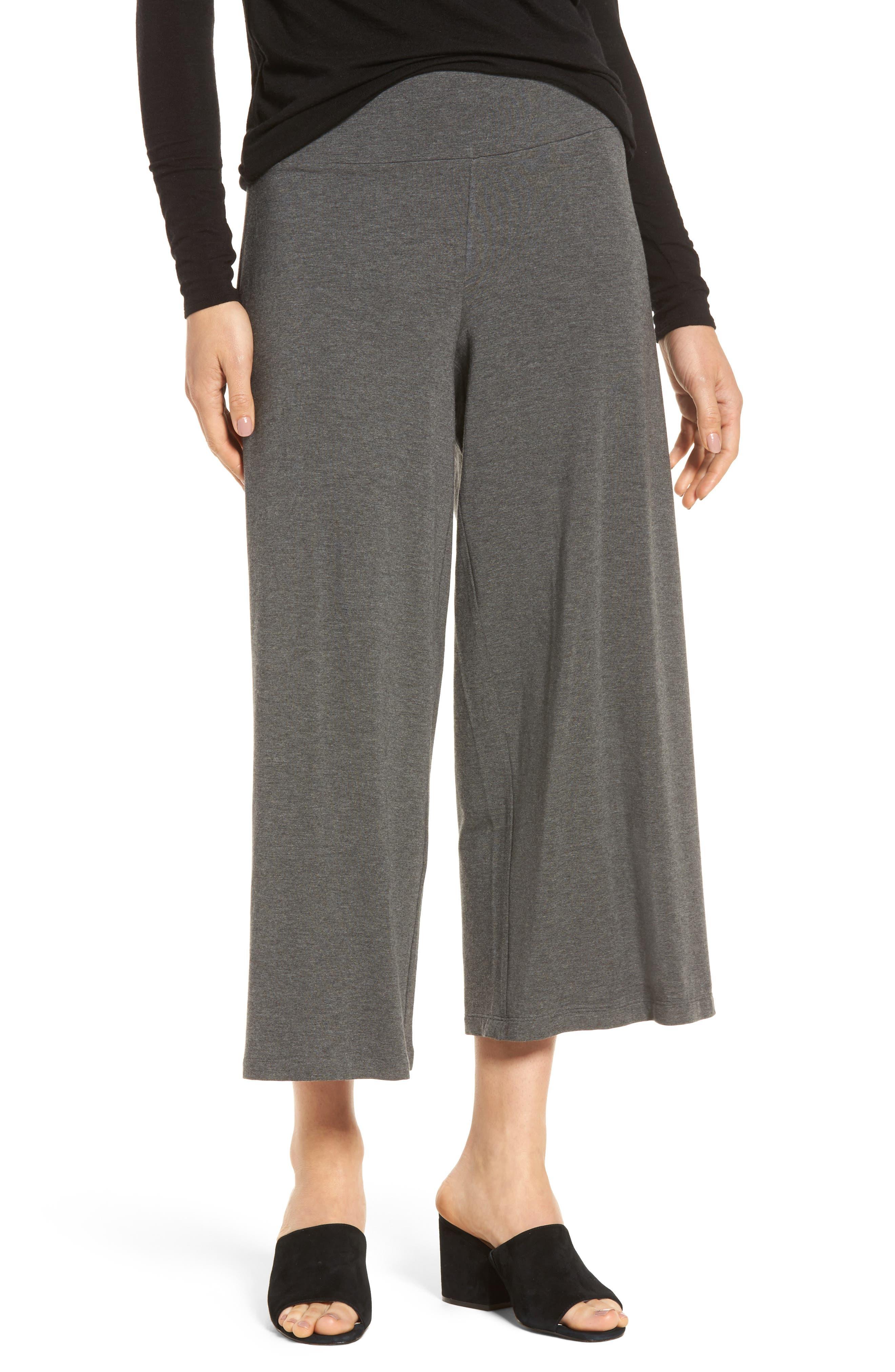 Wide Leg Crop Pants,                         Main,                         color, Ash
