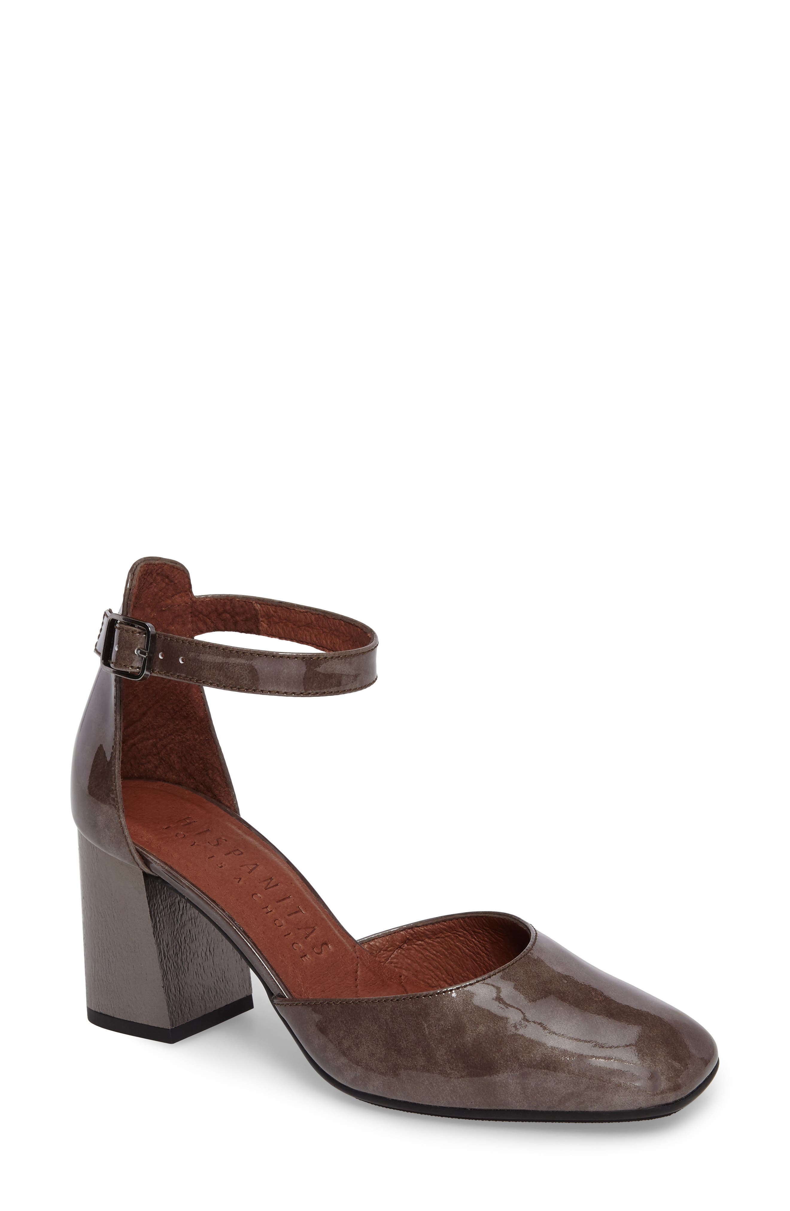 Paulette Flared Heel Pump,                             Main thumbnail 1, color,                             Vision Leather