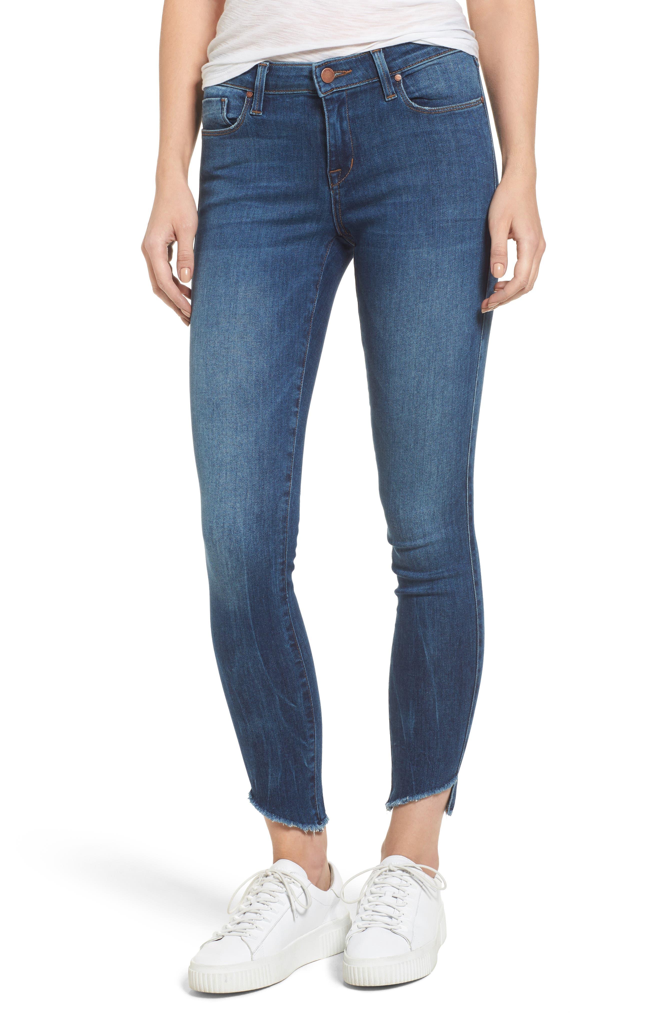 Alternate Image 1 Selected - Fidelity Denim Mila Step Hem Skinny Jeans (Vintage Blue)