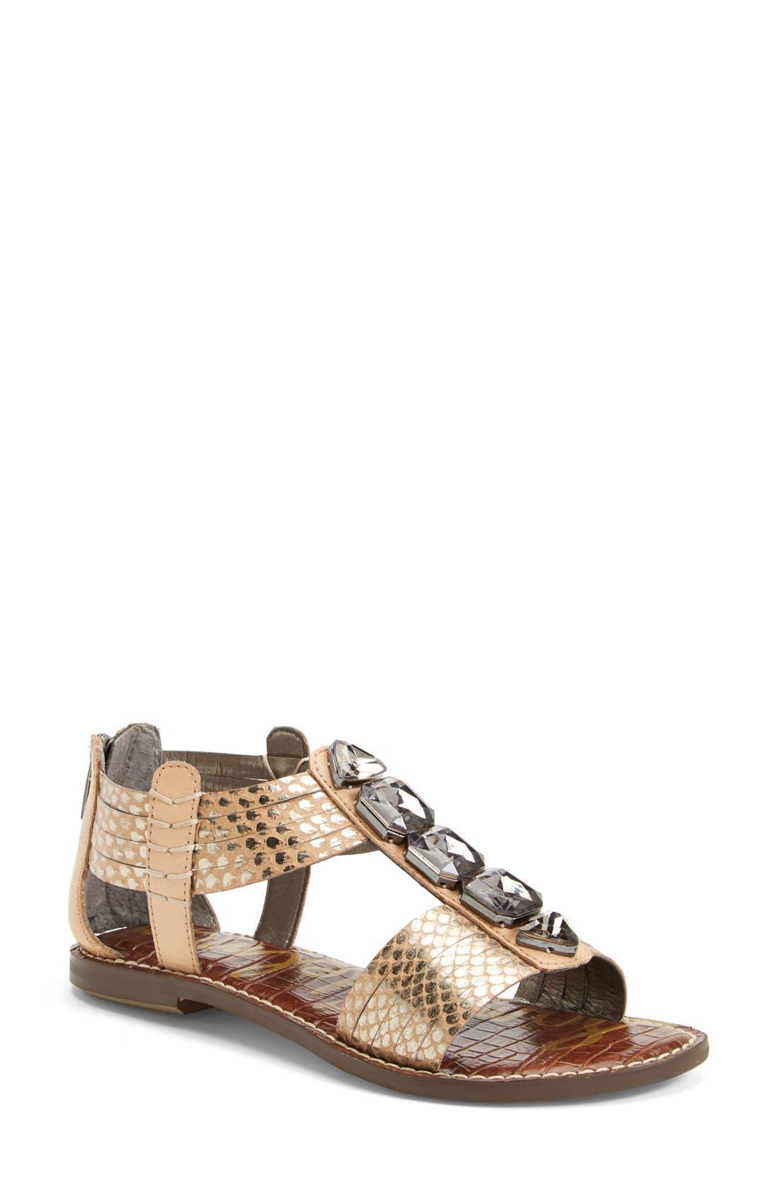 Alternate Image 1 Selected - Sam Edelman 'Galina' Crystal Embellished Sandal (Women)