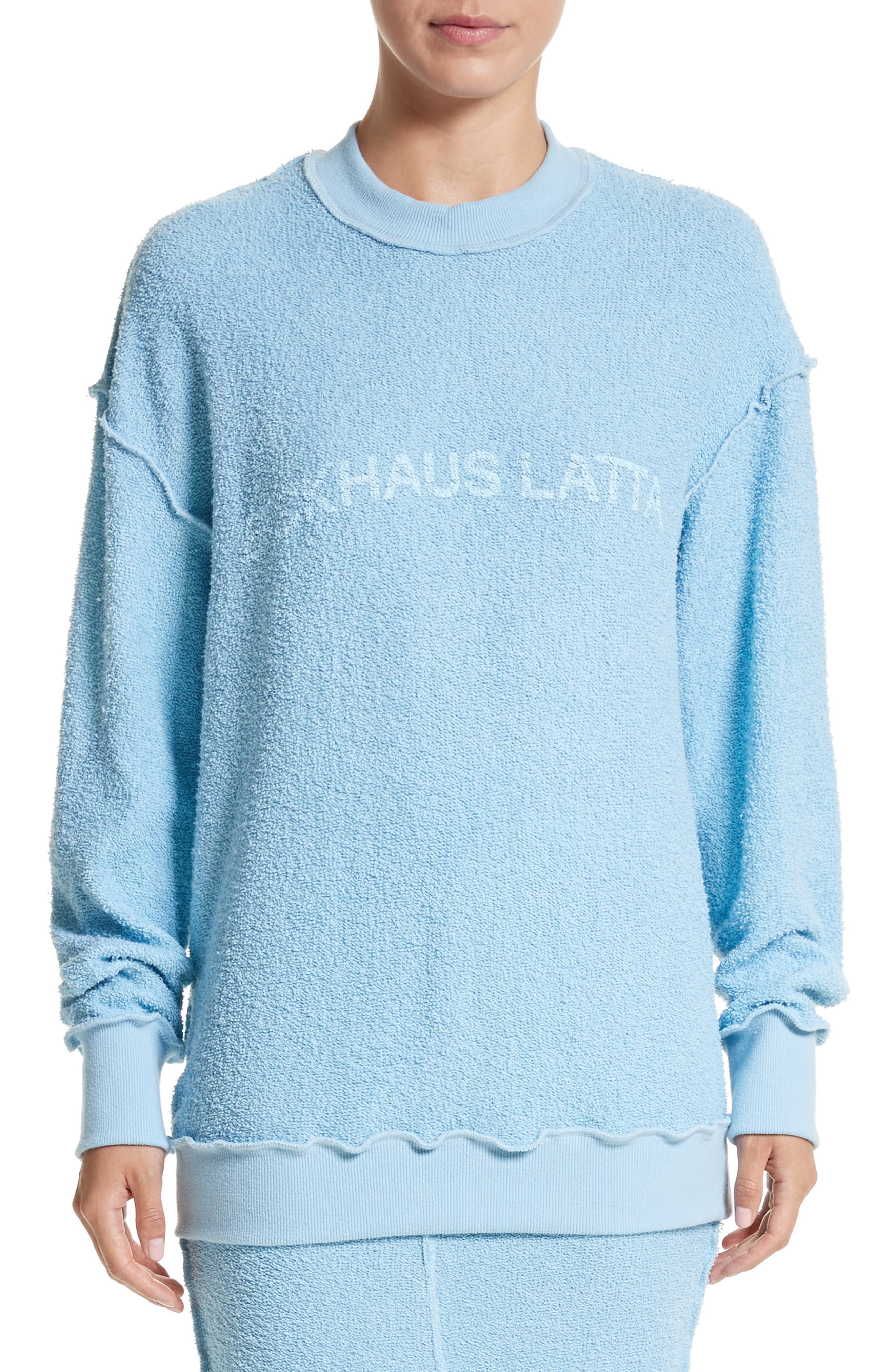 Alternate Image 1 Selected - Eckhaus Latta Drop Shoulder Reverse Terry Sweatshirt