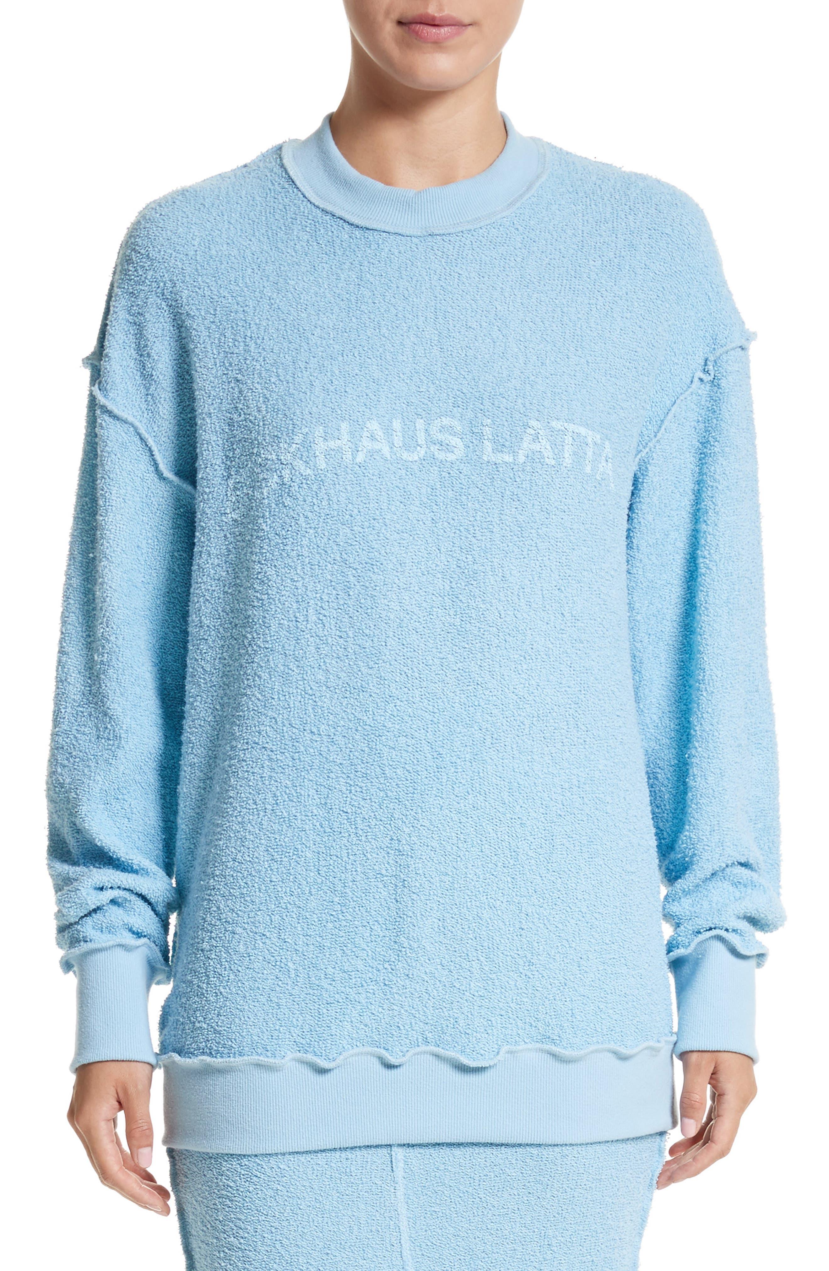 Main Image - Eckhaus Latta Drop Shoulder Reverse Terry Sweatshirt