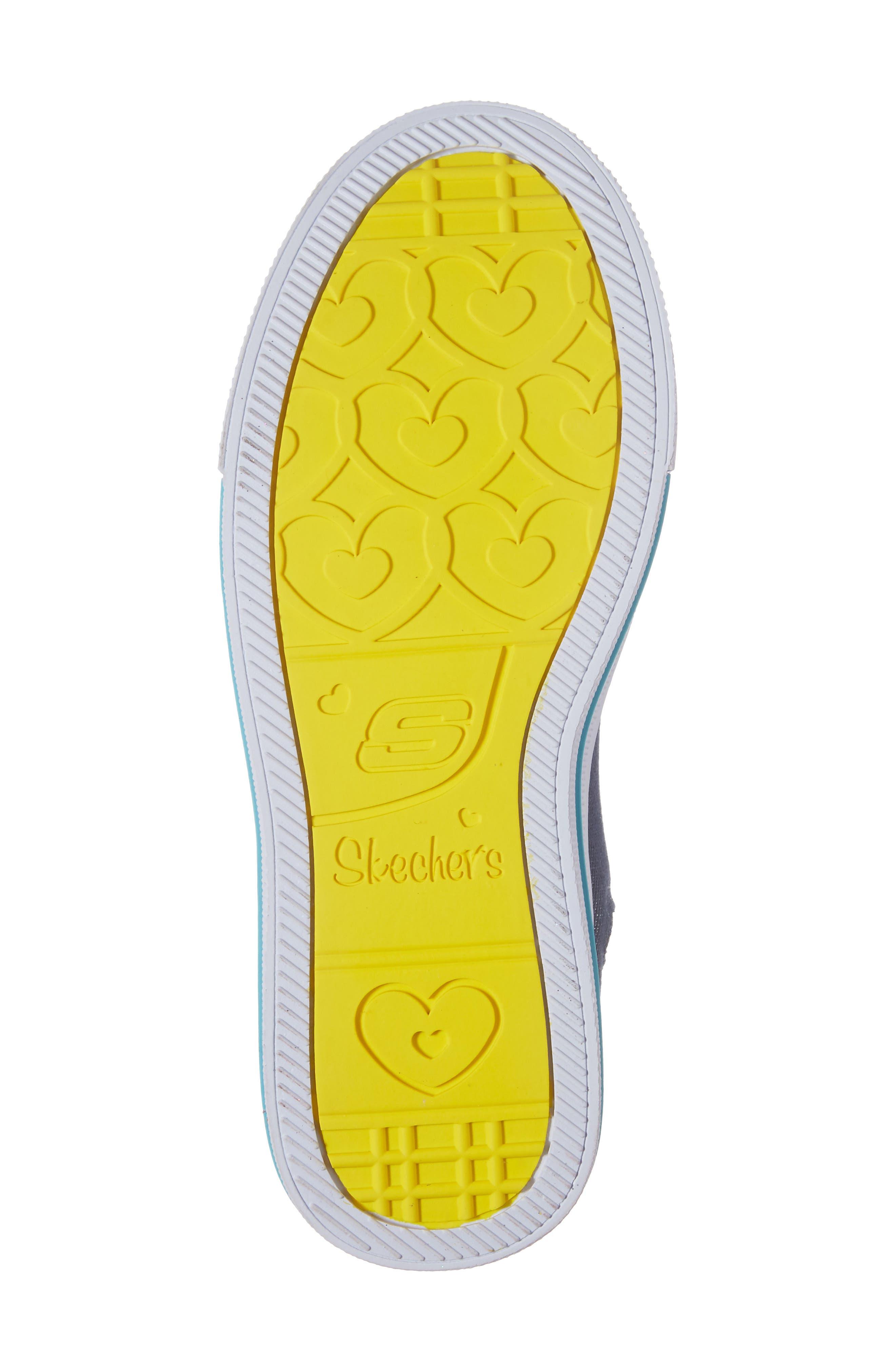 Twinkle Toes Shuffles Ultra High Top Sneaker,                             Alternate thumbnail 6, color,                             Denim/ Multi