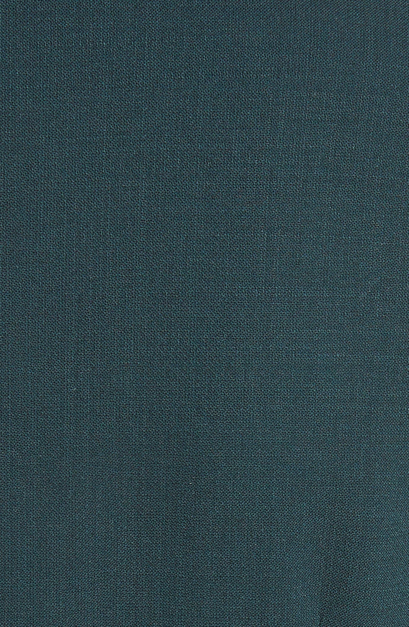 Umano Stretch Wool Sheath Dress,                             Alternate thumbnail 6, color,                             Dark Green