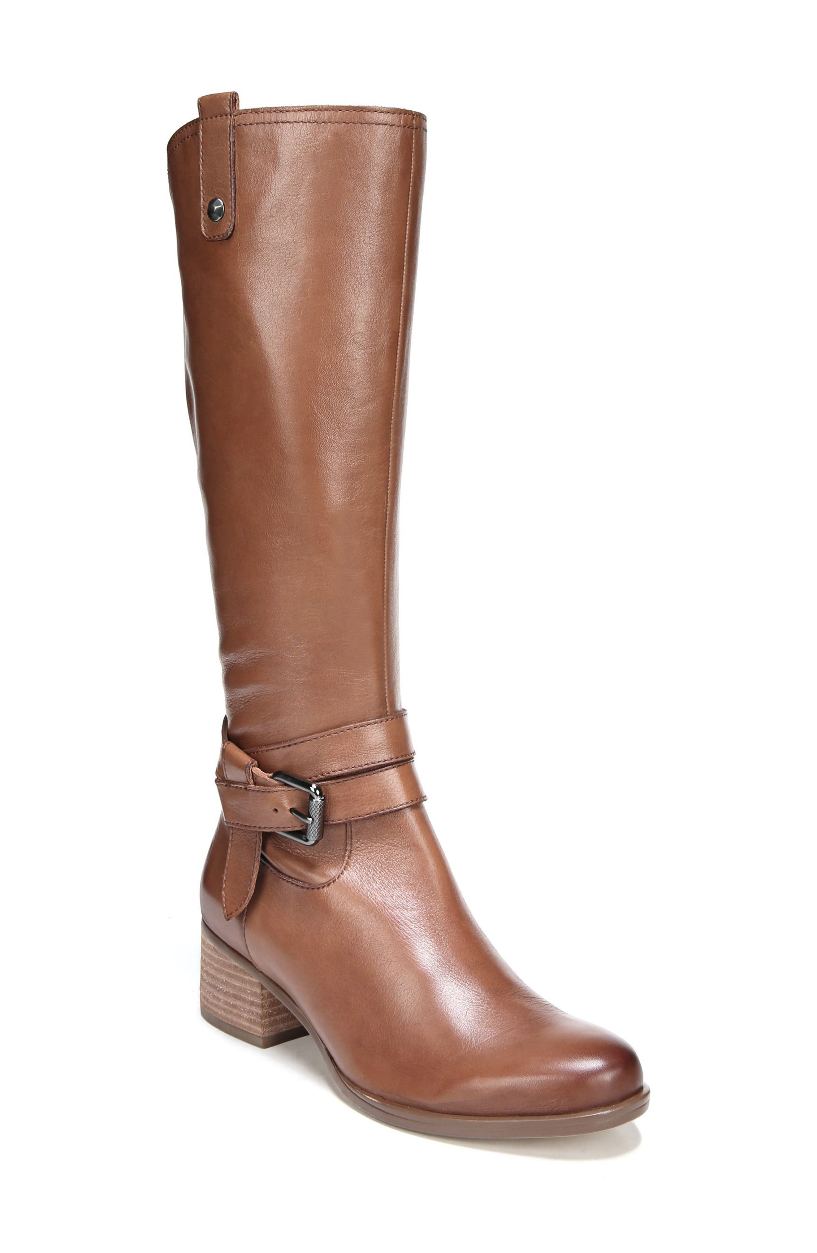 Naturalizer Dev Buckle Strap Boot (Women) (Regular & Wide Calf)