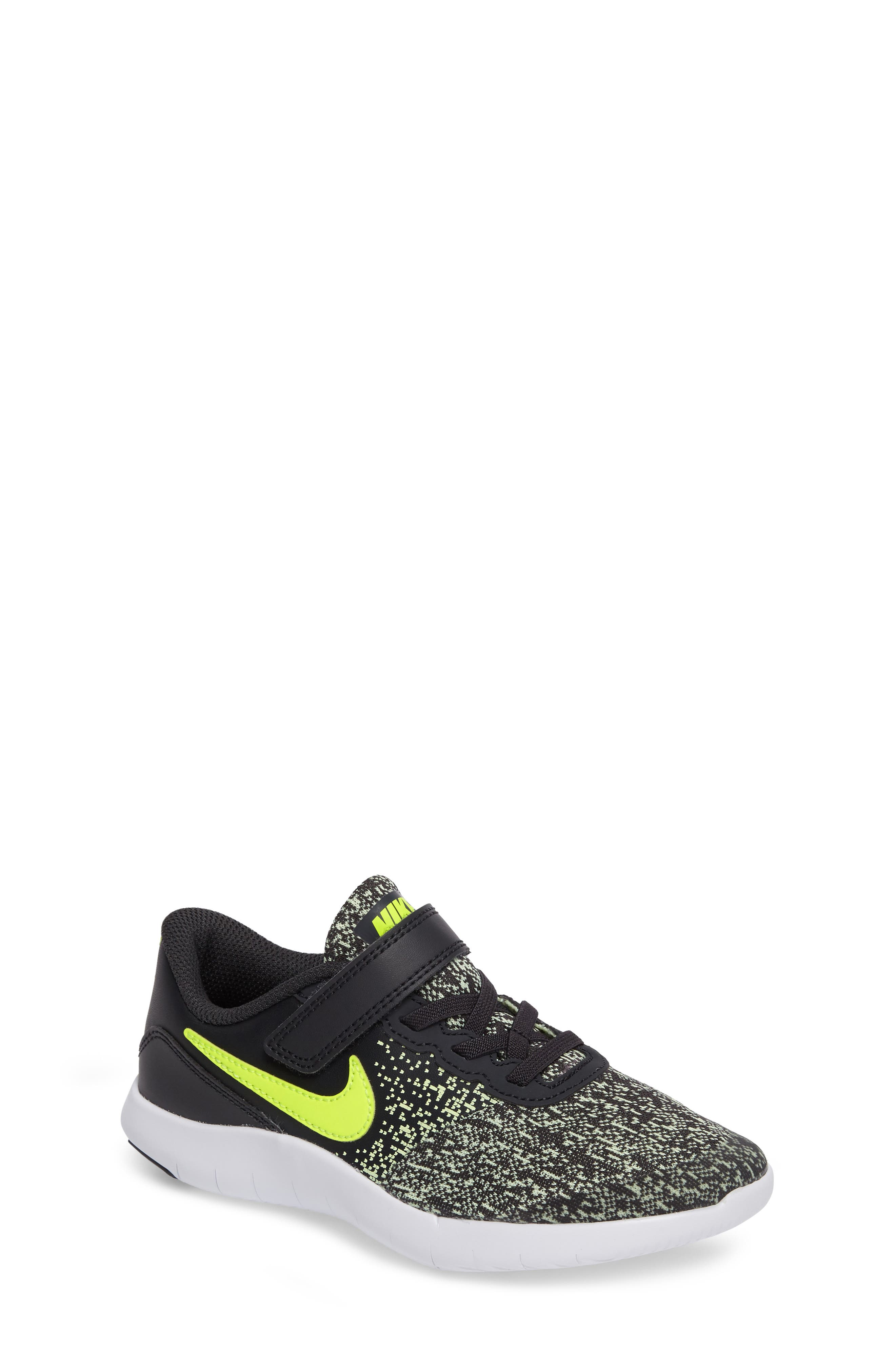 nike running shoes for girls black and white. nike flex contact running shoe (toddler \u0026 little shoes for girls black and white l