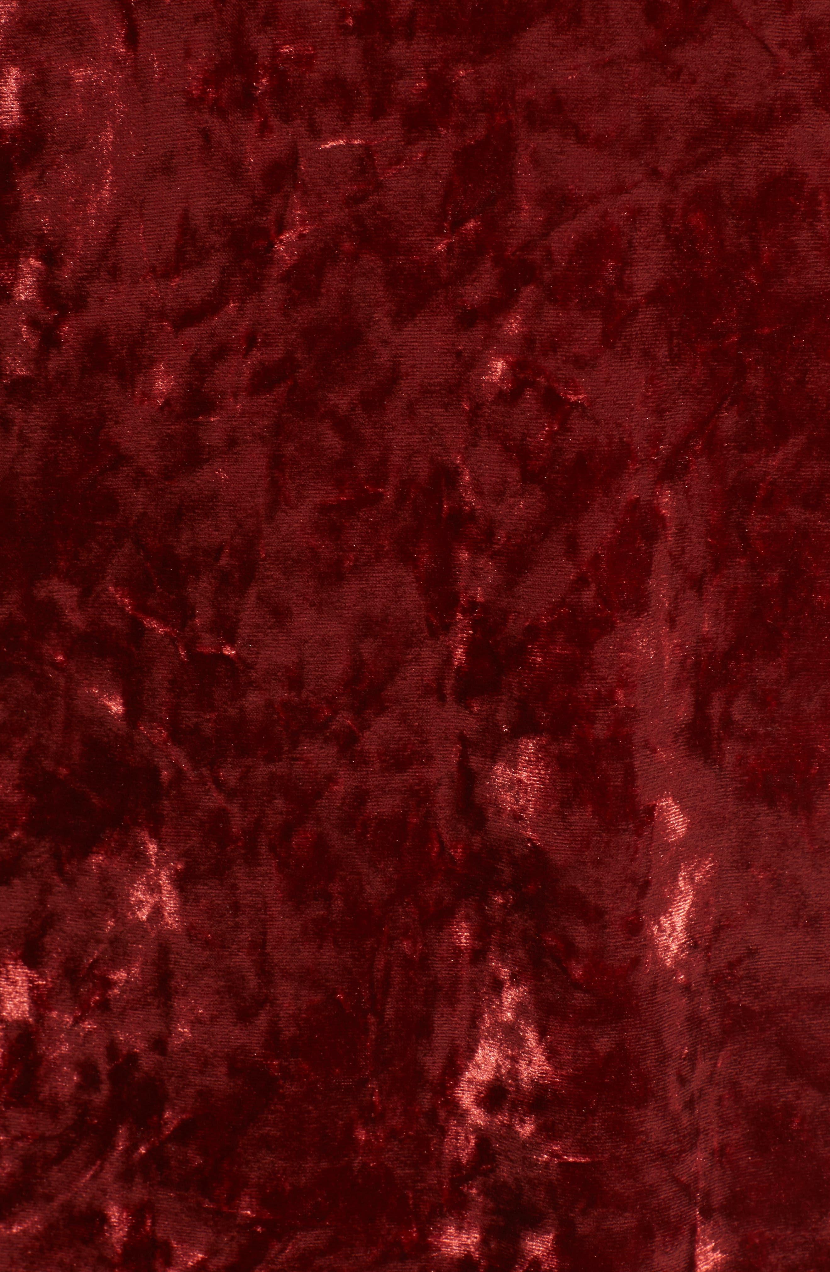 Alternate Image 5  - Privacy Please Raymore Crushed Velvet Minidress