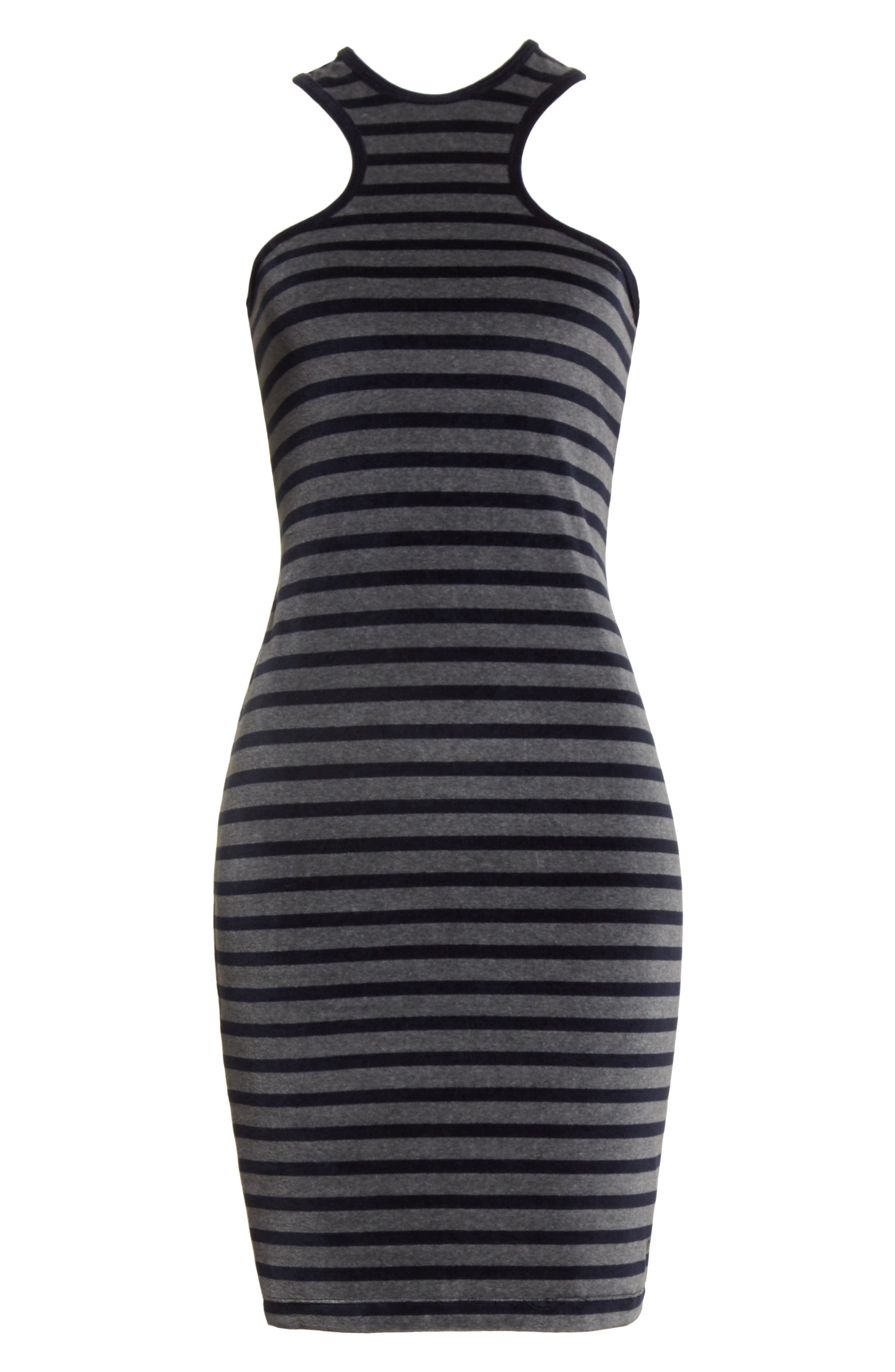 Alternate Image 6  - T by Alexander Wang Stripe Velour Racerback Dress