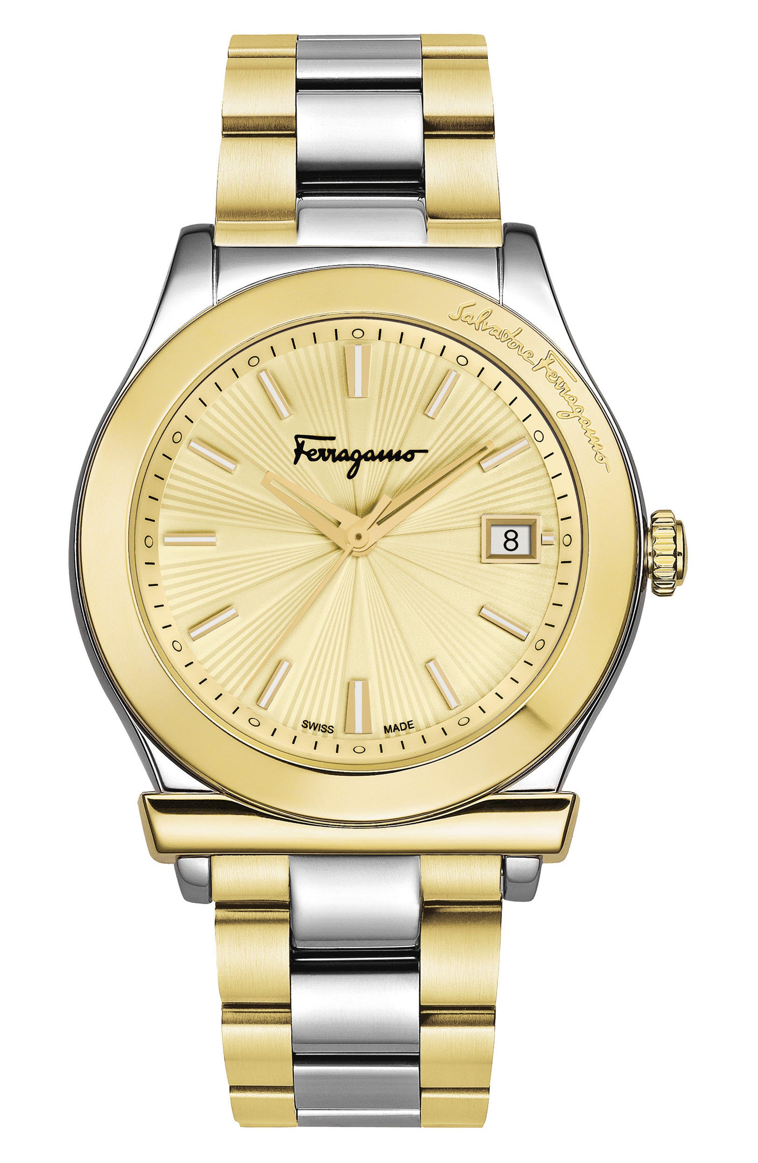 Alternate Image 1 Selected - Salvatore Ferragamo 1898 Bracelet Watch, 40mm