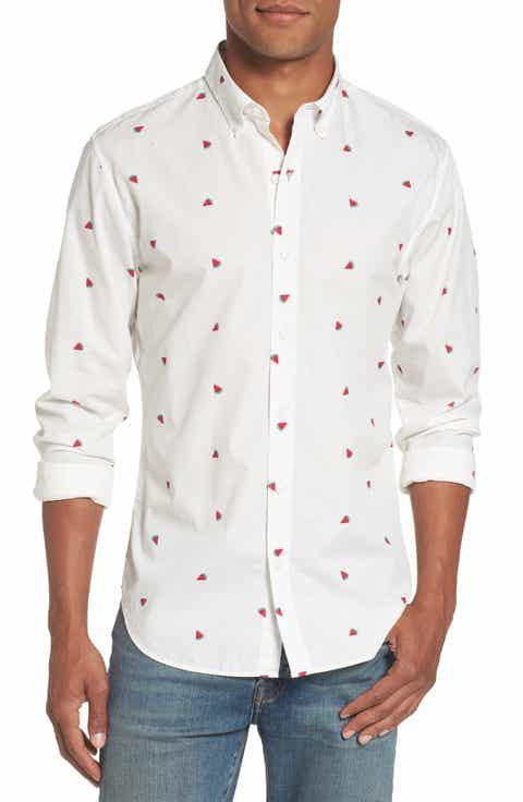 White Casual Button-Down Shirts Bonobos Clothing | Nordstrom