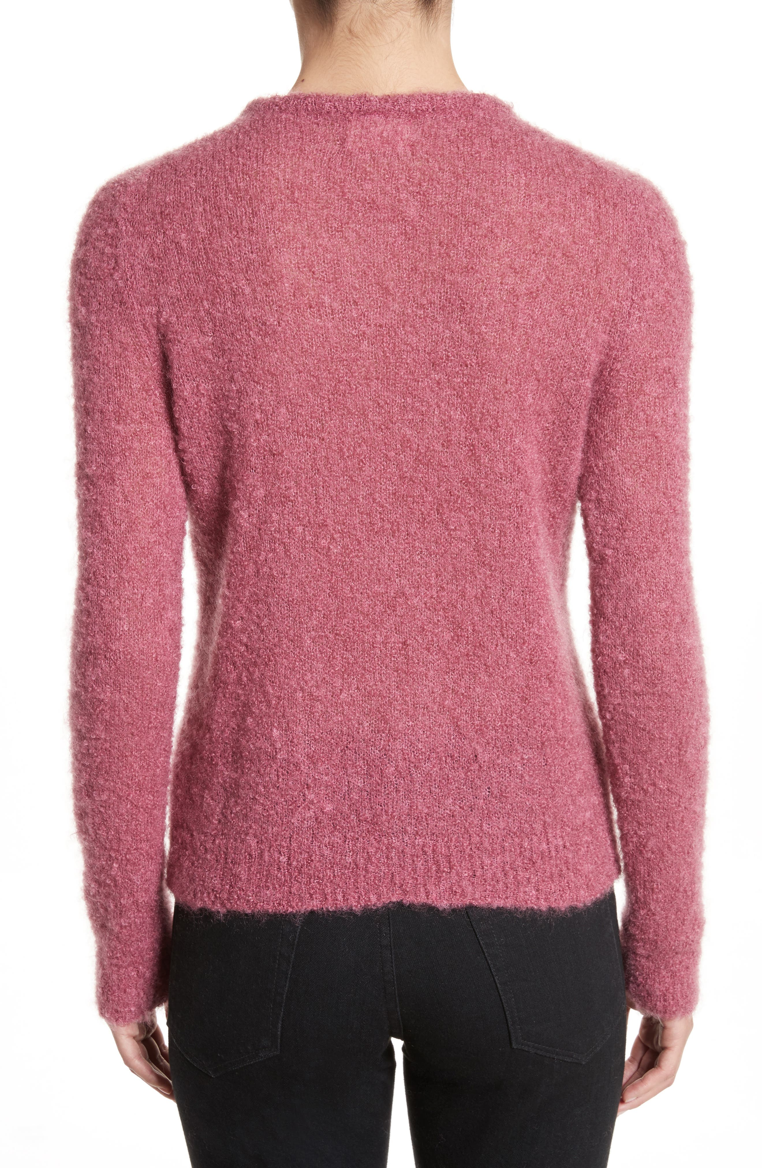 Tatum Mohair & Silk Sweater,                             Alternate thumbnail 2, color,                             Ruby Pink