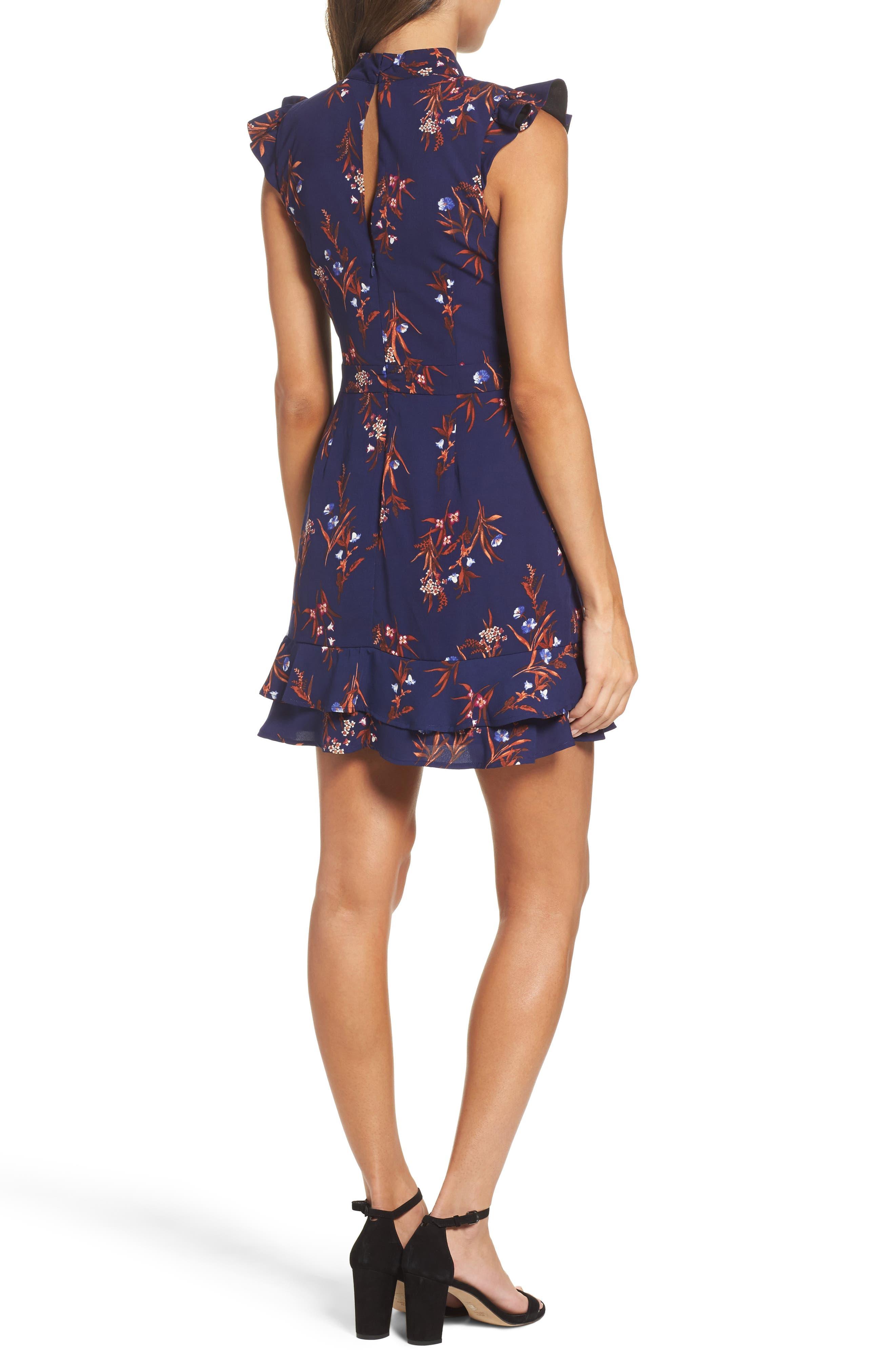 Alternate Image 2  - Adelyn Rae Phoebe Ruffle Fit & Flare Dress