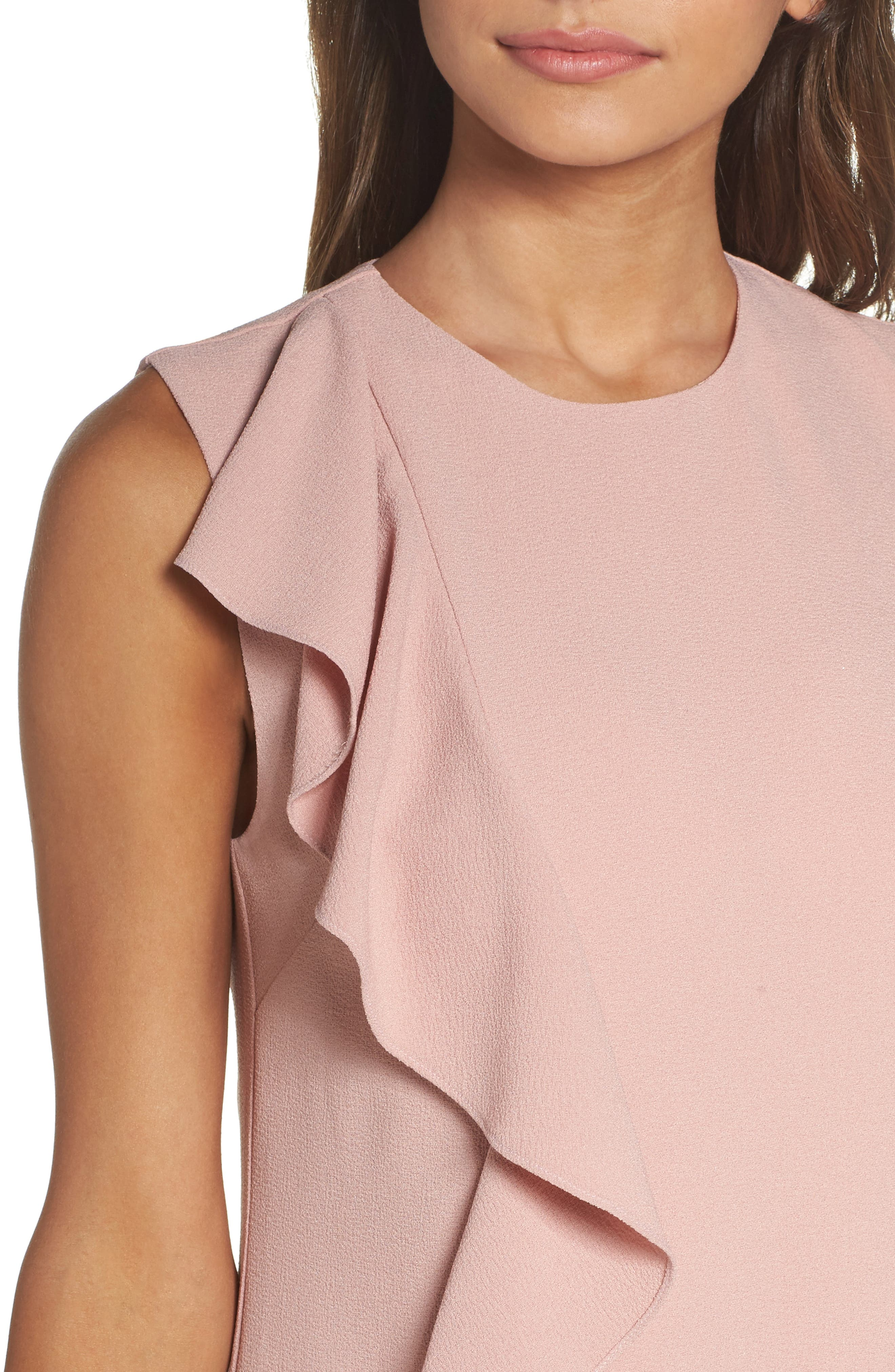 Ruffle Shift Dress,                             Alternate thumbnail 4, color,                             Blush