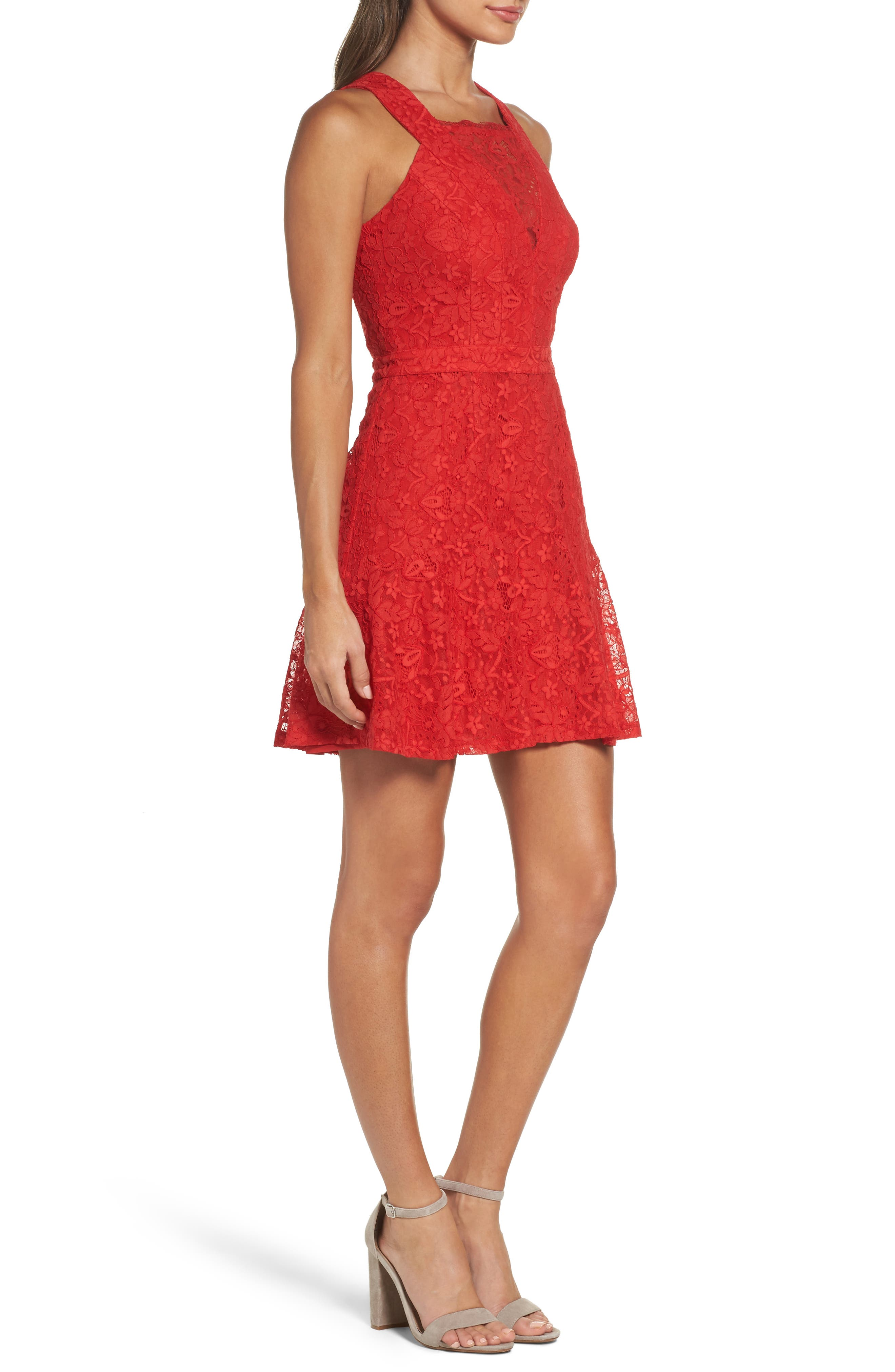 Alternate Image 3  - Adelyn Rae Lace Fit & Flare Dress