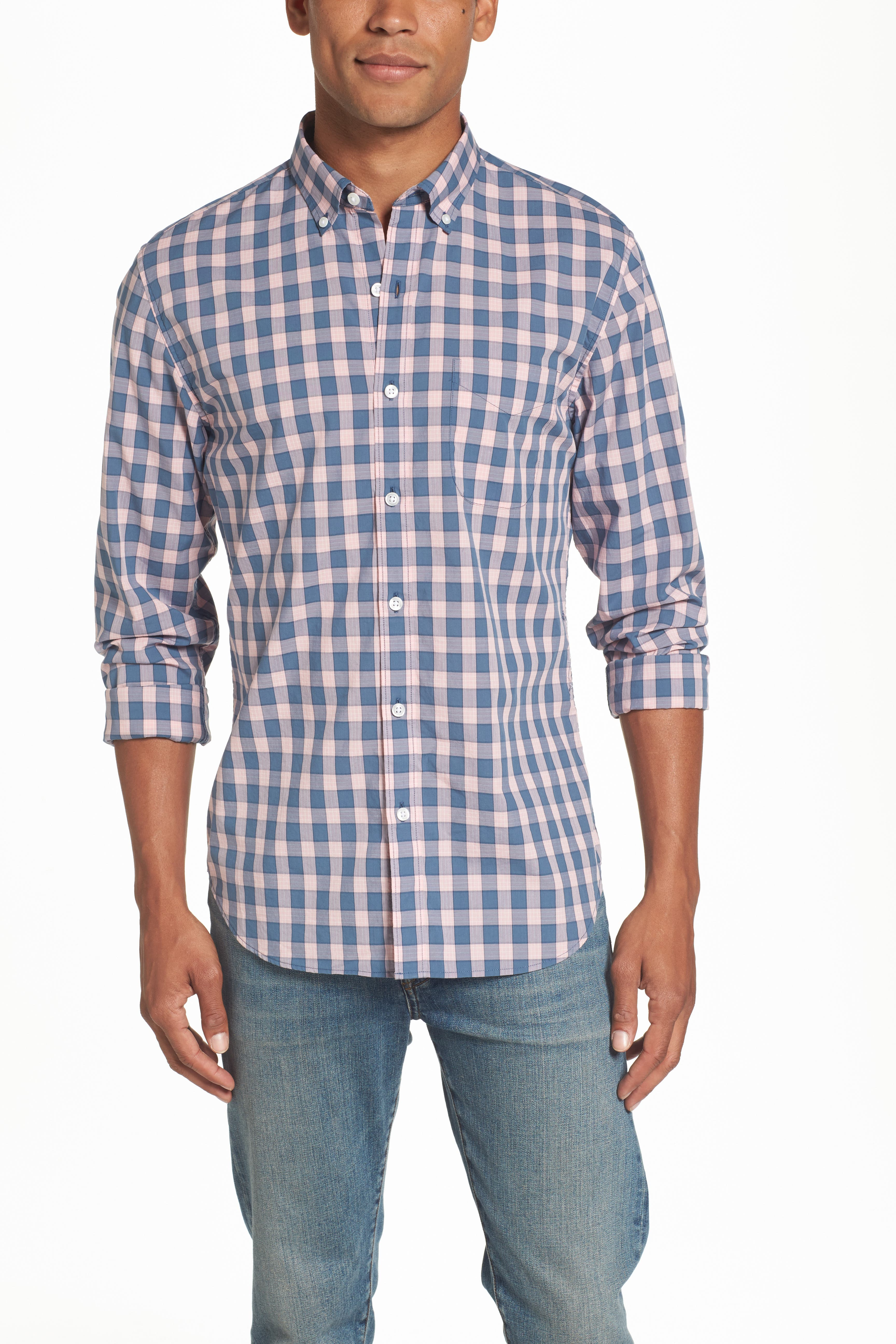 Shirts for Men, Men's Pink Check & Plaid Shirts | Nordstrom